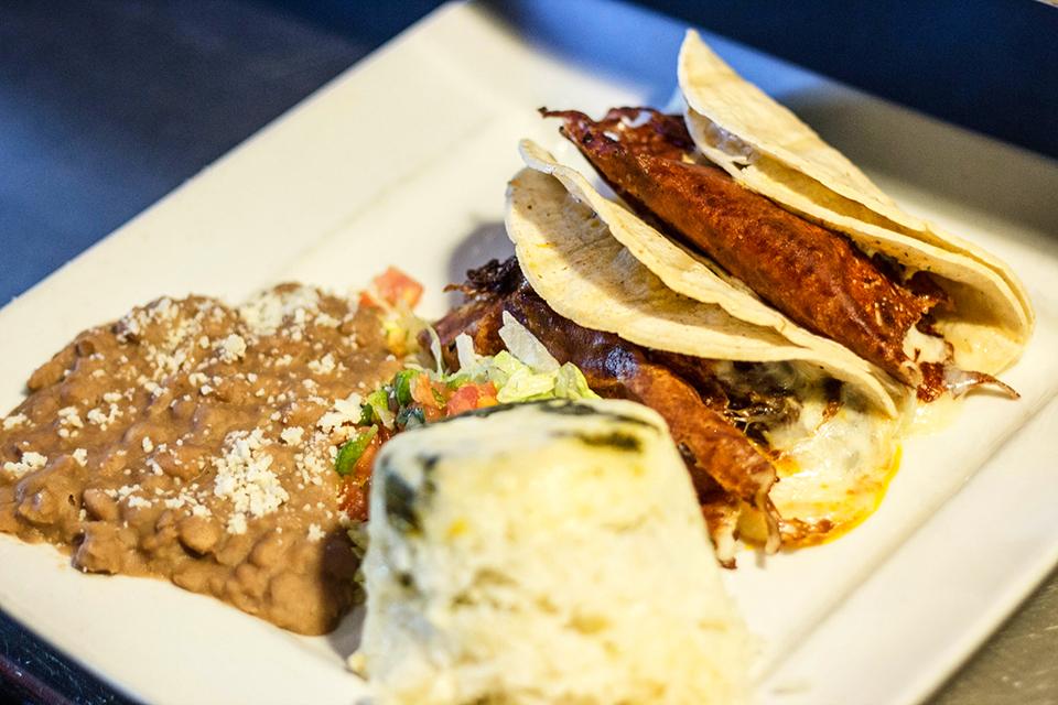 Quesa tacos at Leticia's Mexican Cantina