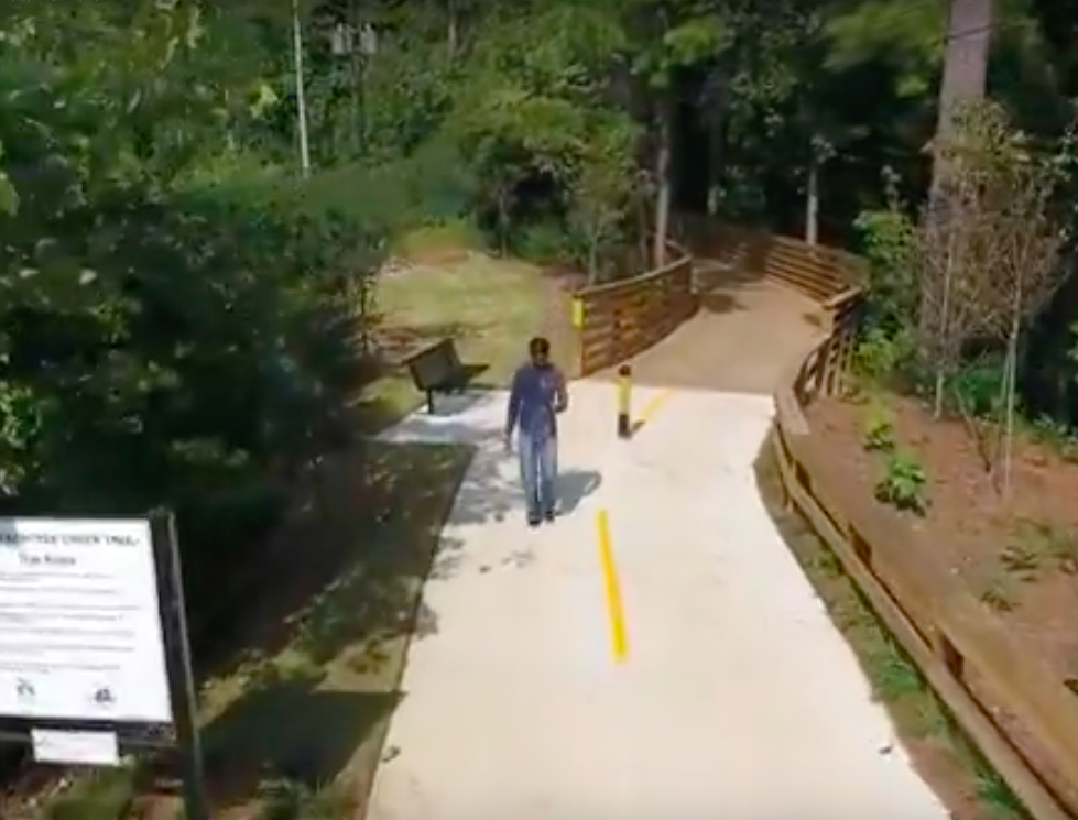 A screen-capture from a recently opened section of the South Peachtree Creek Trail near Emory.