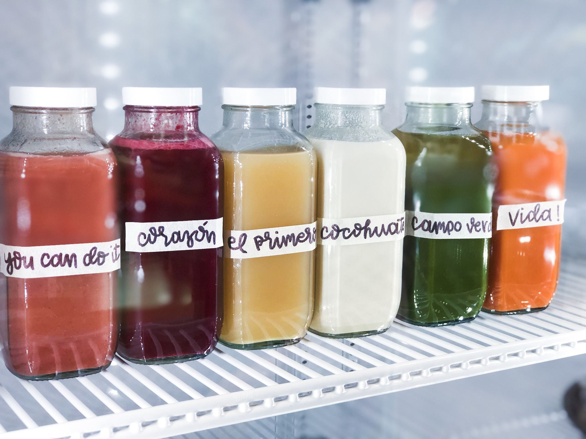 Juices from Vida Pura Juicery