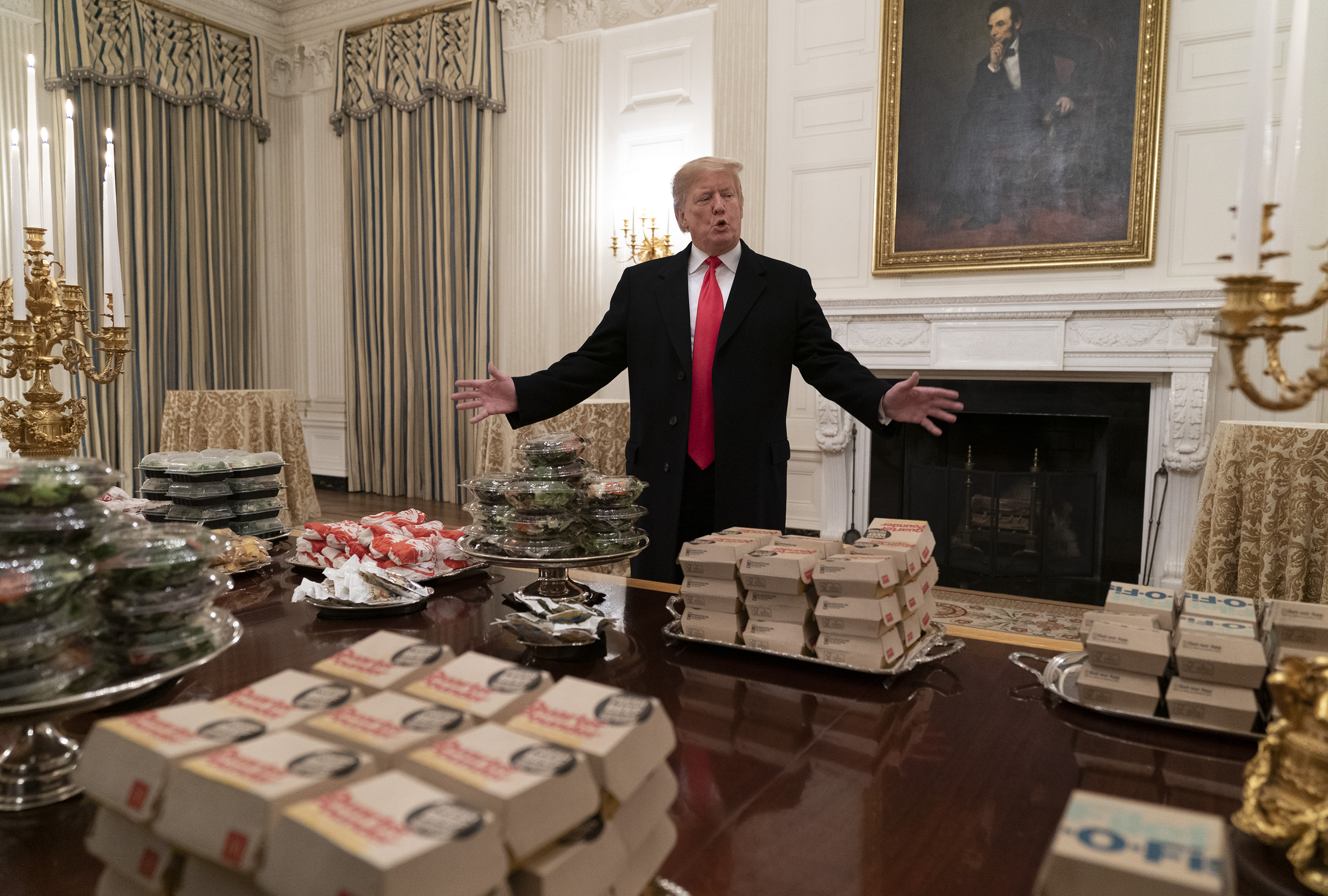 Trump served McDonald's and Burger King to the Clemson football team