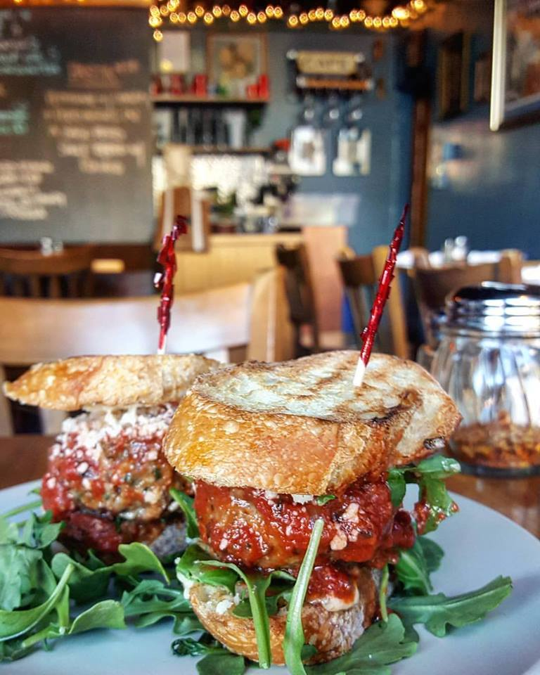 Meatball sliders at City Girl Cafe