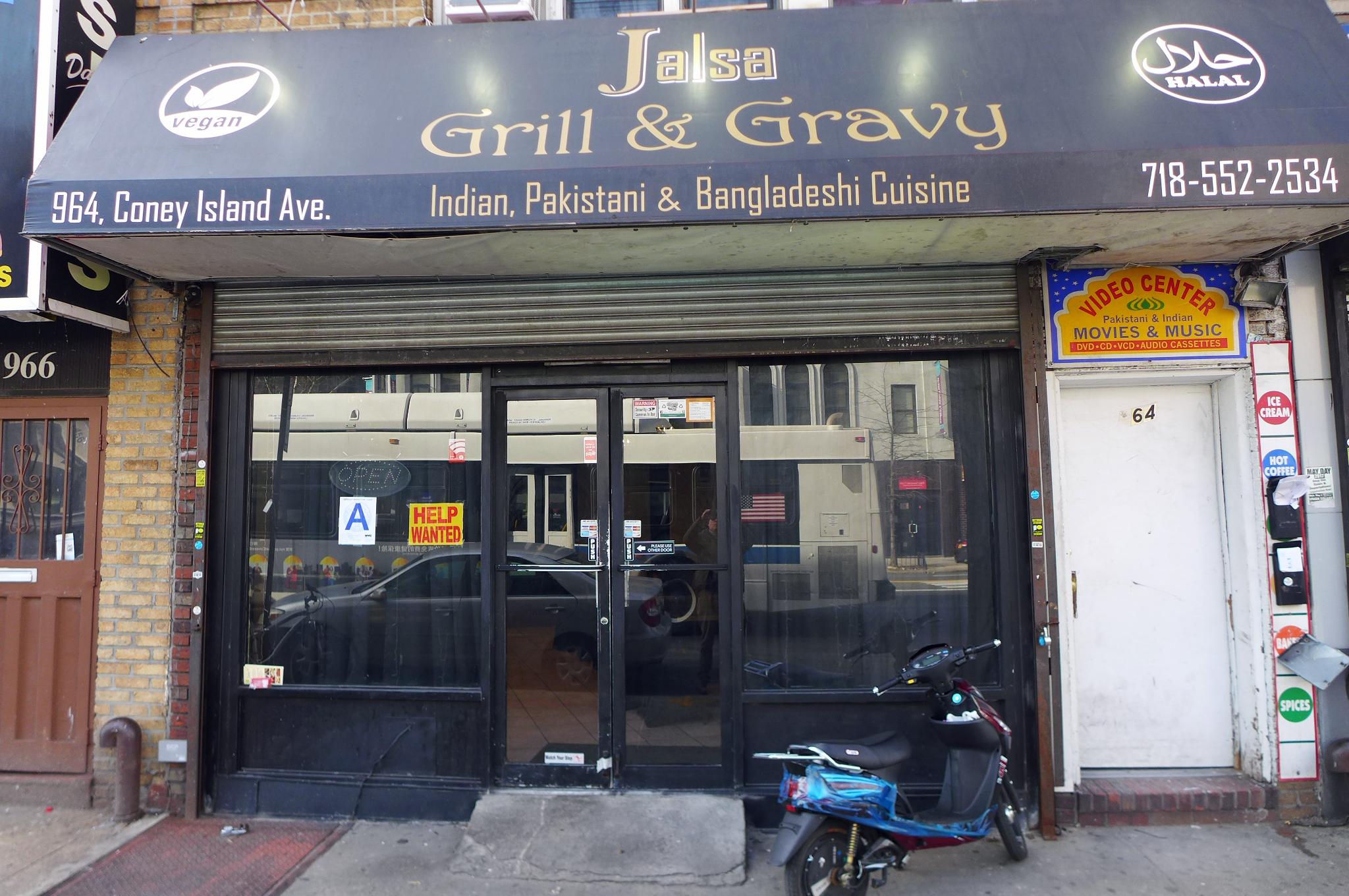 Jalsa Grill & Gravy is located on restaurant-thronged Coney Island Avenue.