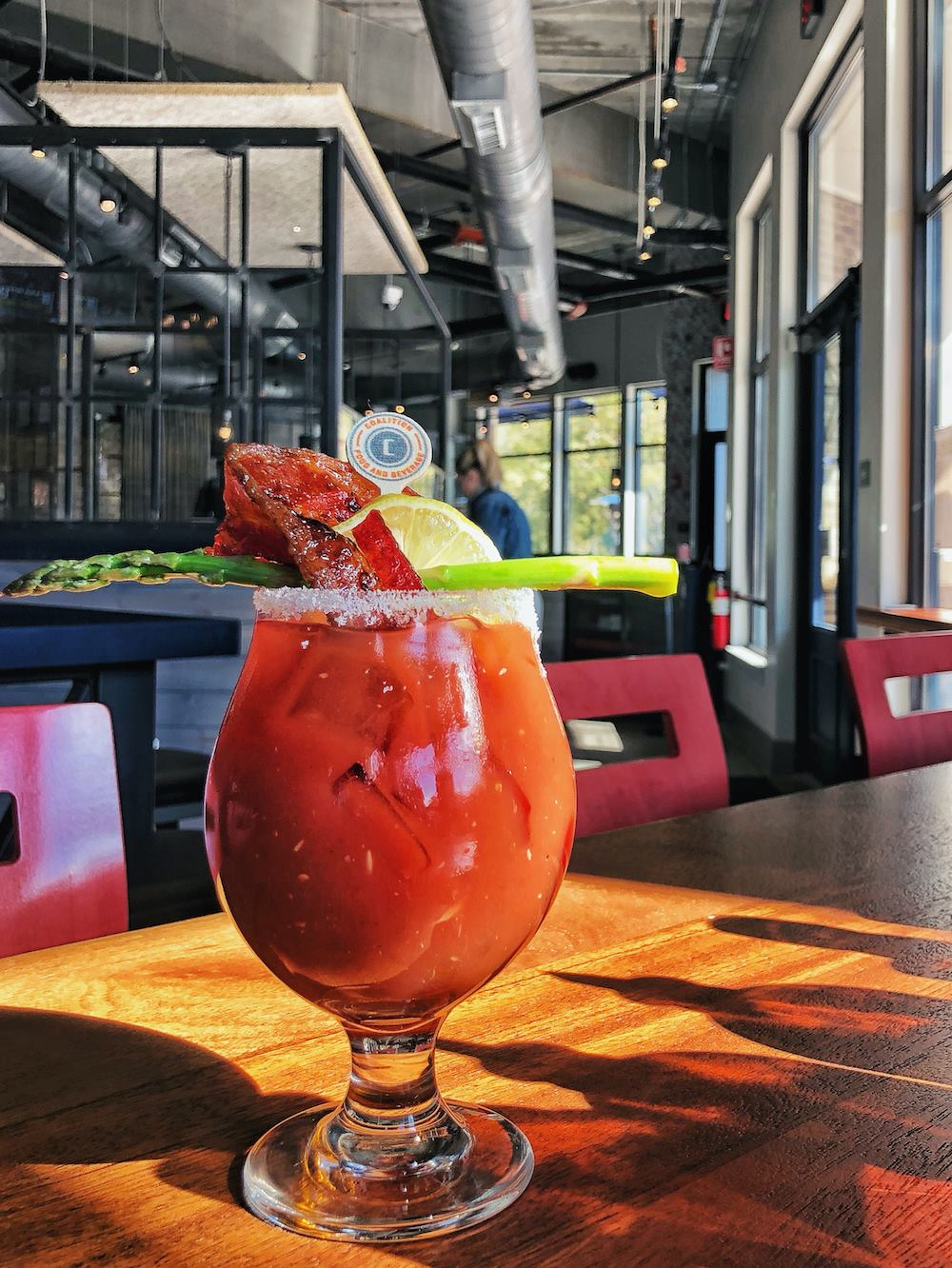 bloody mary at Coalition Food and Beverage in Alpharetta
