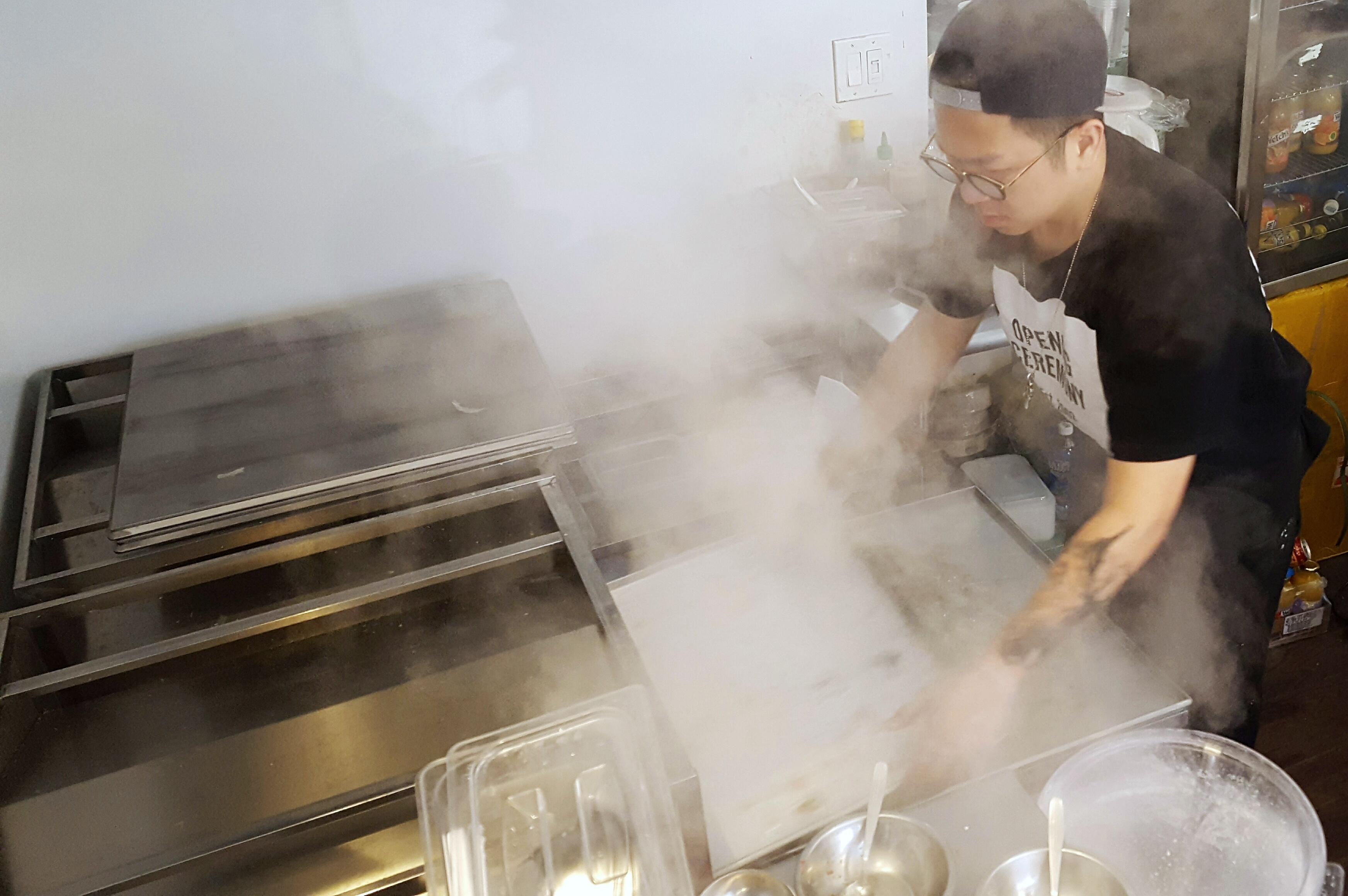 Joe Rong of Joe's Steam Rice Roll
