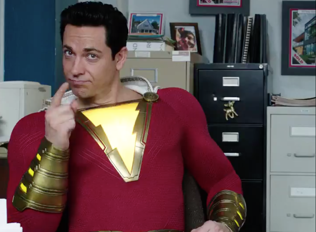 New Shazam footage dunks on Dark Knight's tagline