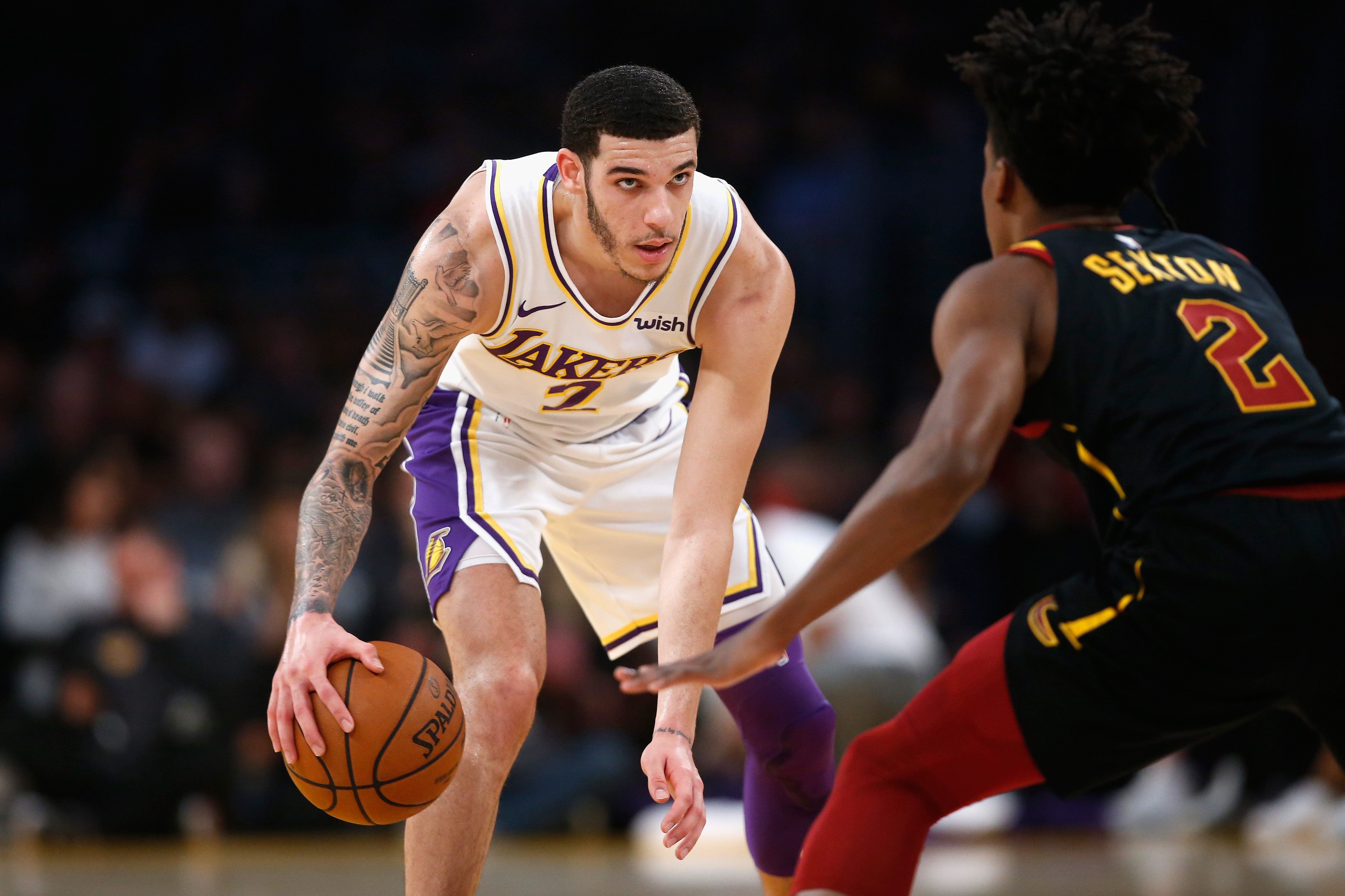 Luke Walton thinks Lonzo Ball was  turning a corner  for the Lakers before  ankle injury 551be5b181d