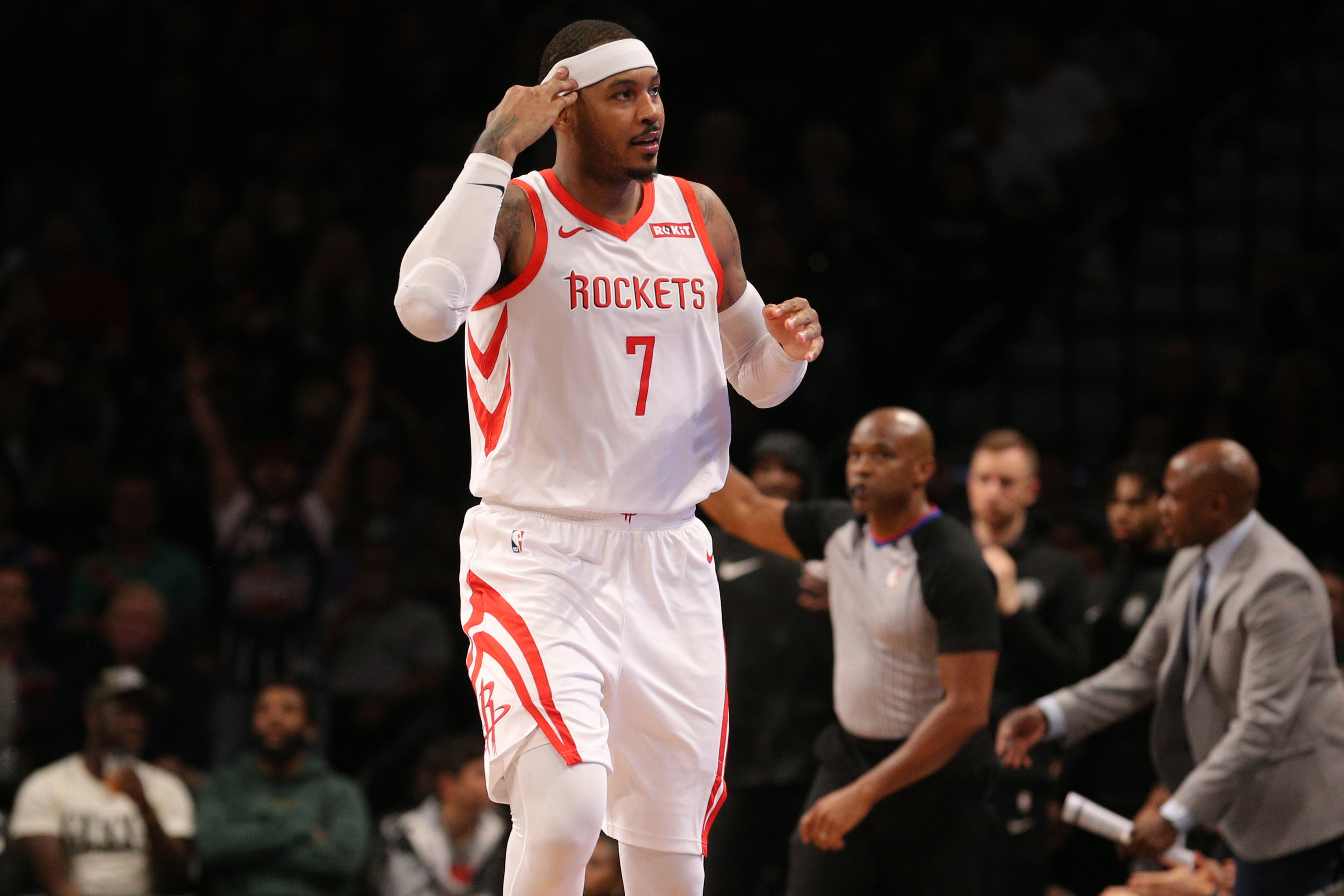 Carmelo Anthony's brief Rockets tenure is over after a money-saving trade to the Bulls