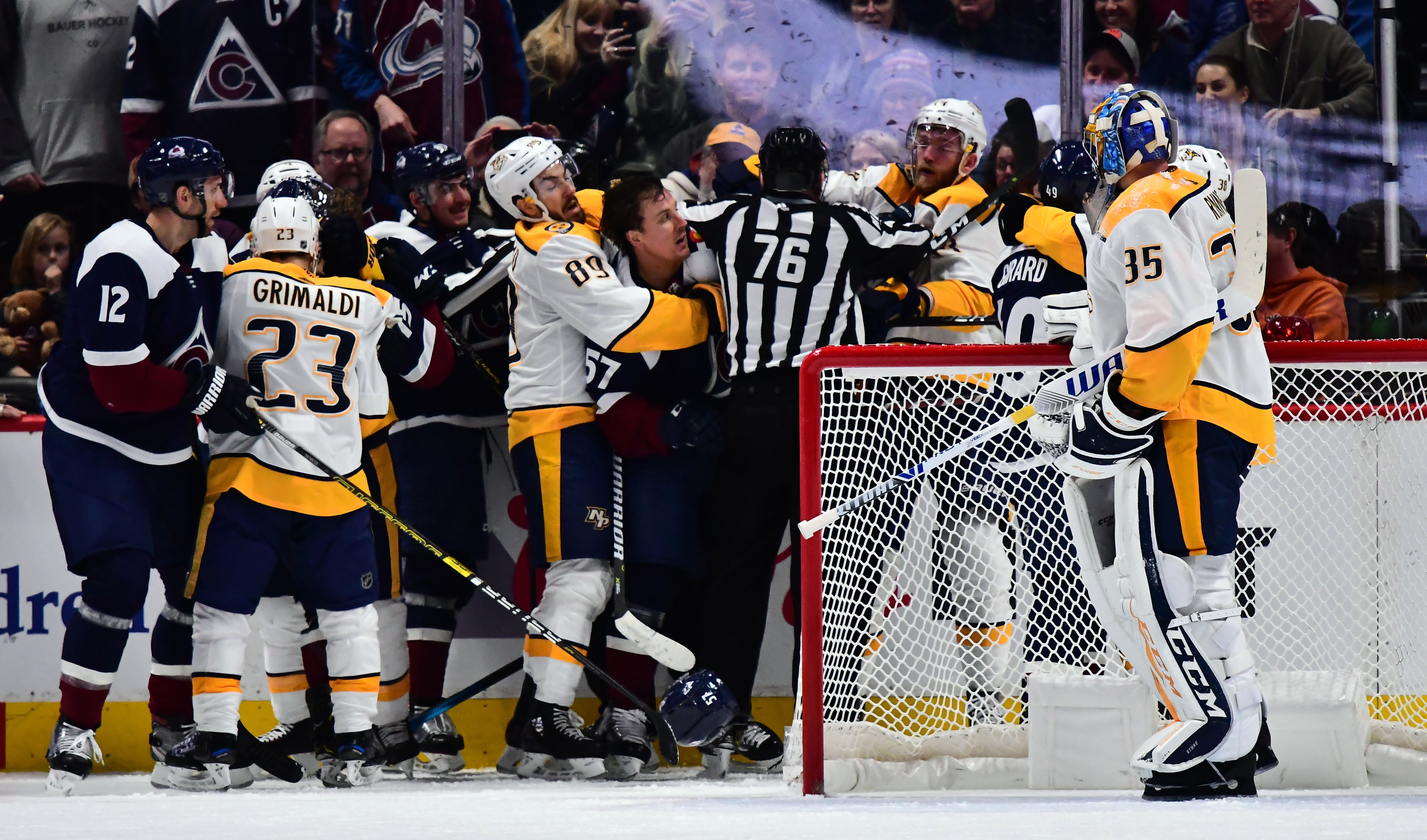 Colorado Avalanche Get Rinne D Lose To Nashville 4 1 Mile High Hockey
