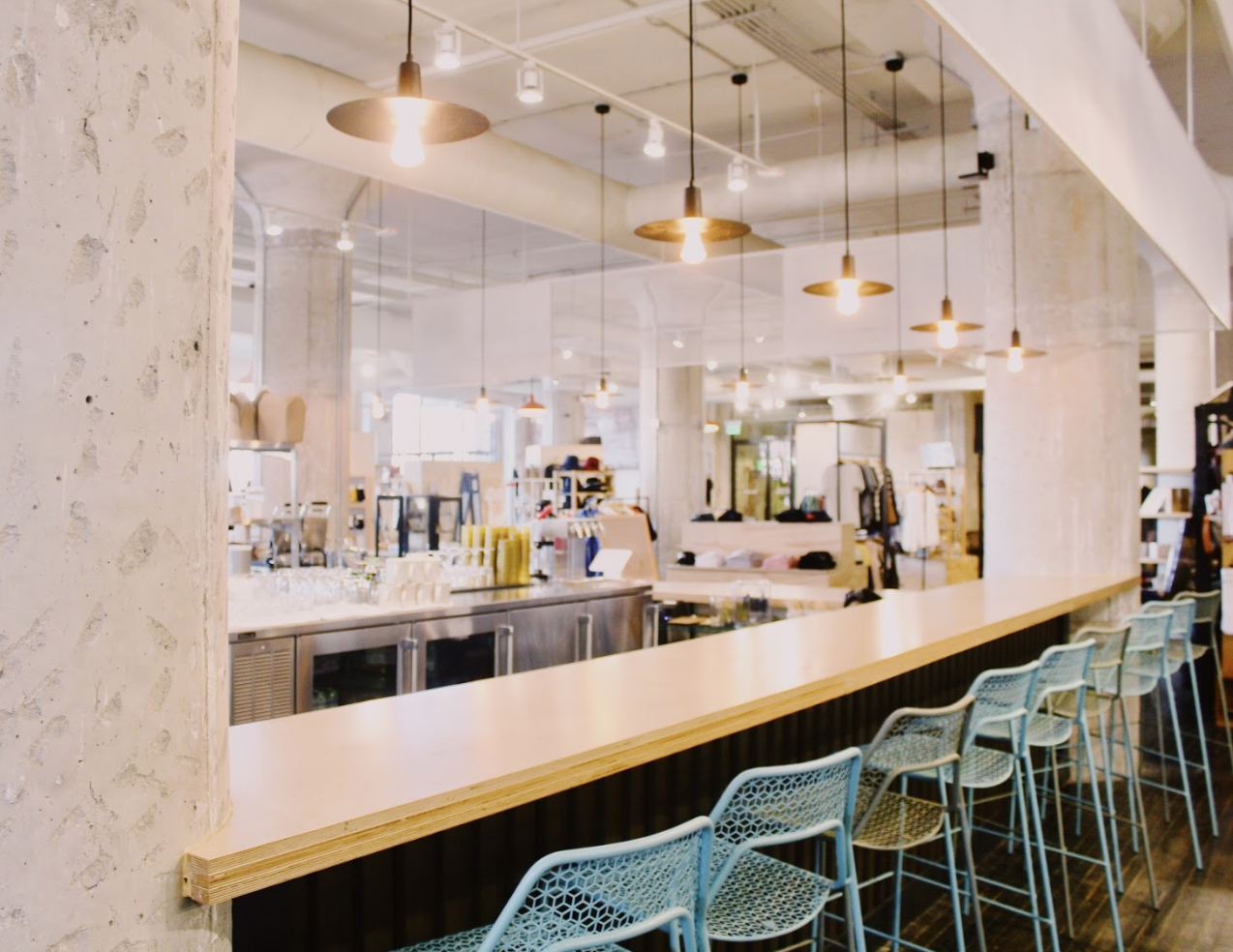 The bar at Likewise Eatery