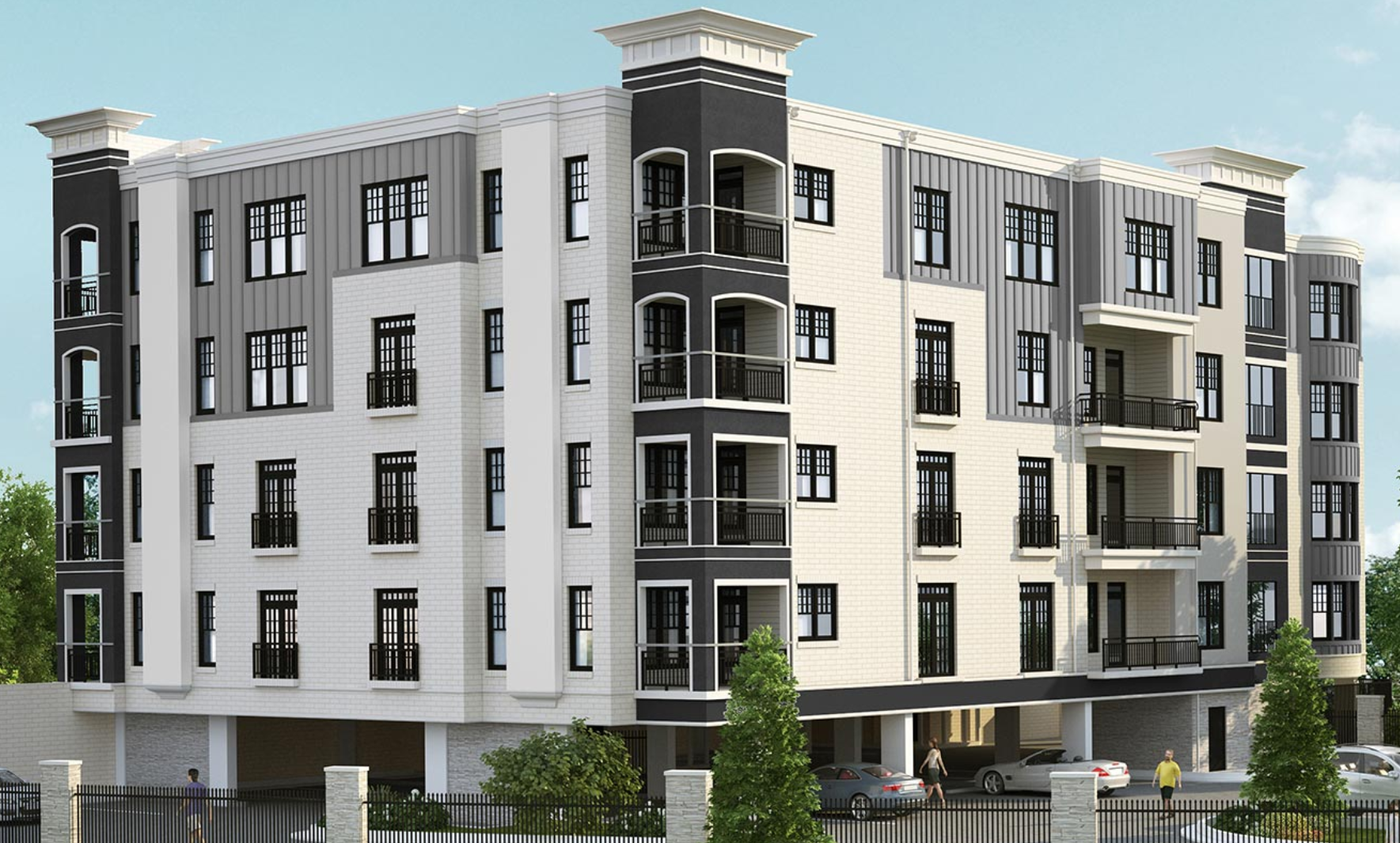 A rendering of the condo project