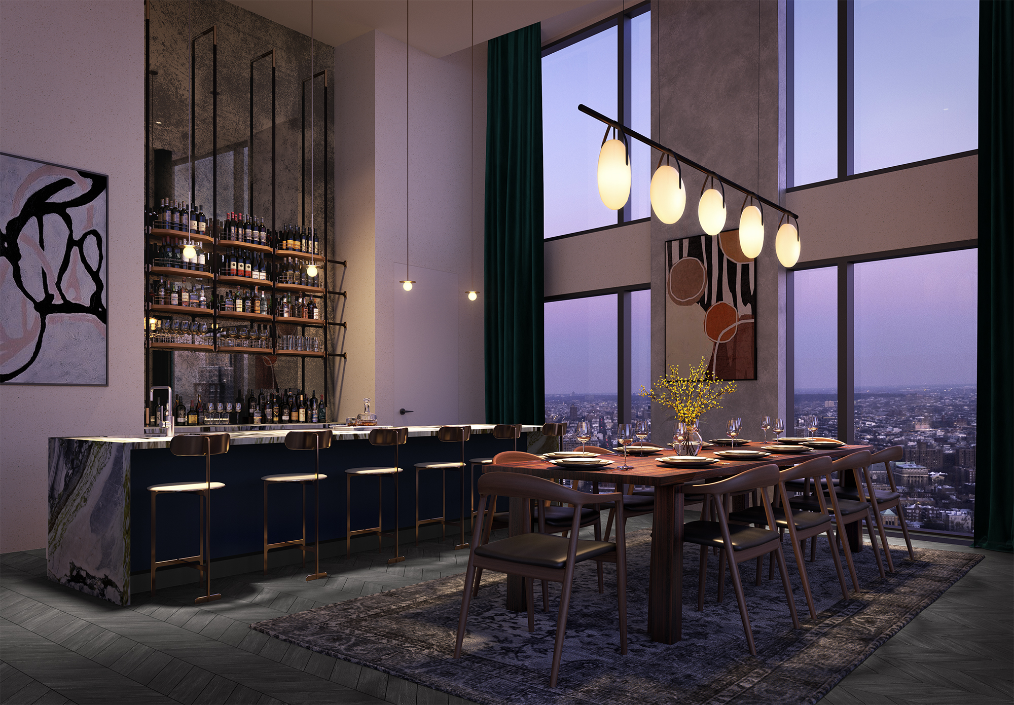 Studio Gang's Downtown Brooklyn condo unveils amenities like cinema, music studio