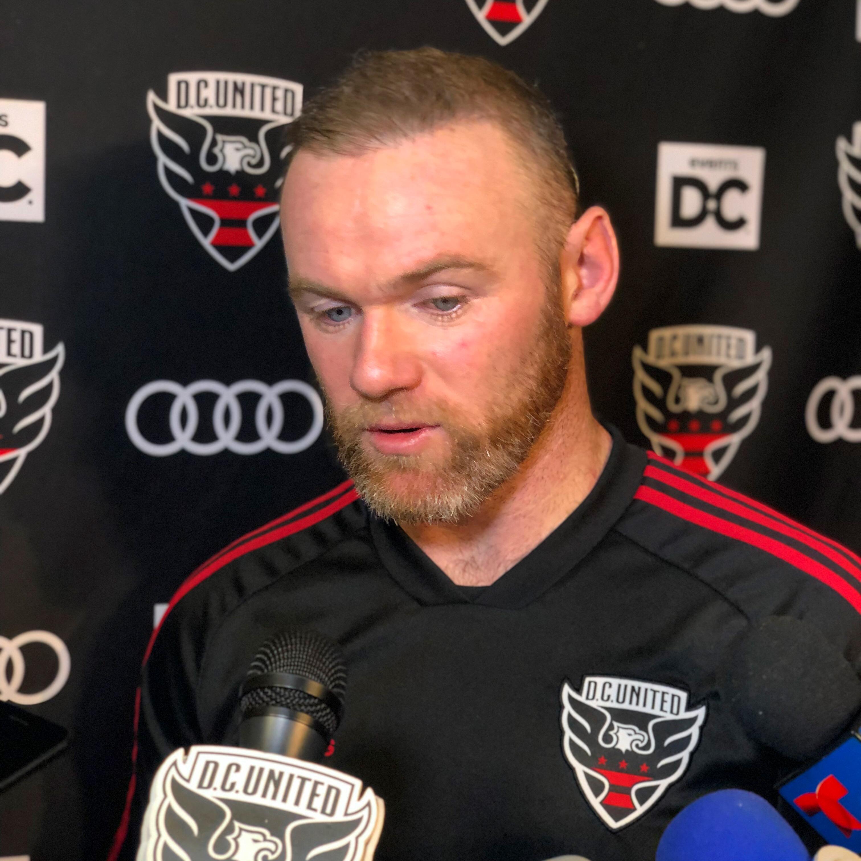 Wayne Rooney at D.C. United's preseason media day on January 23, 2019.