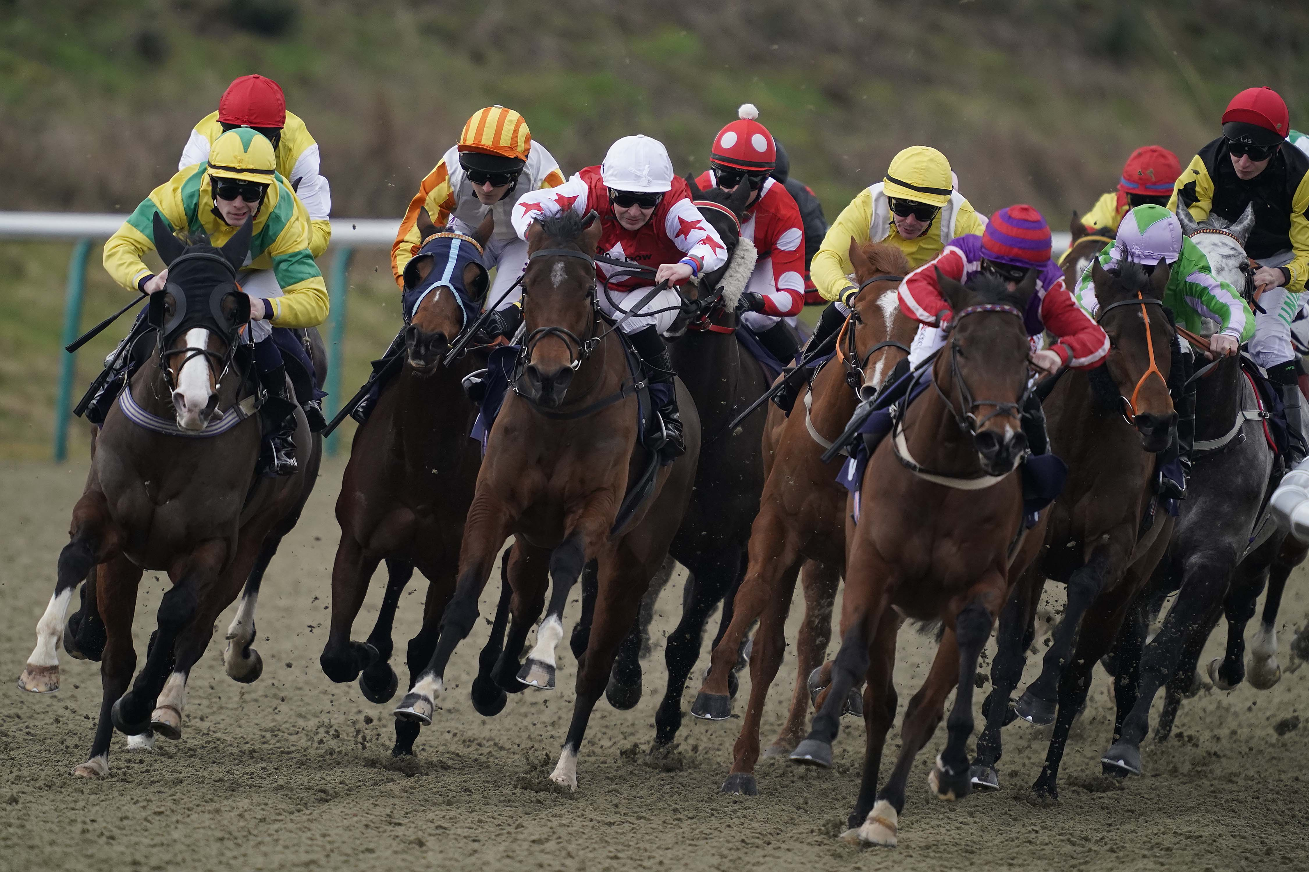 A horse race in England.