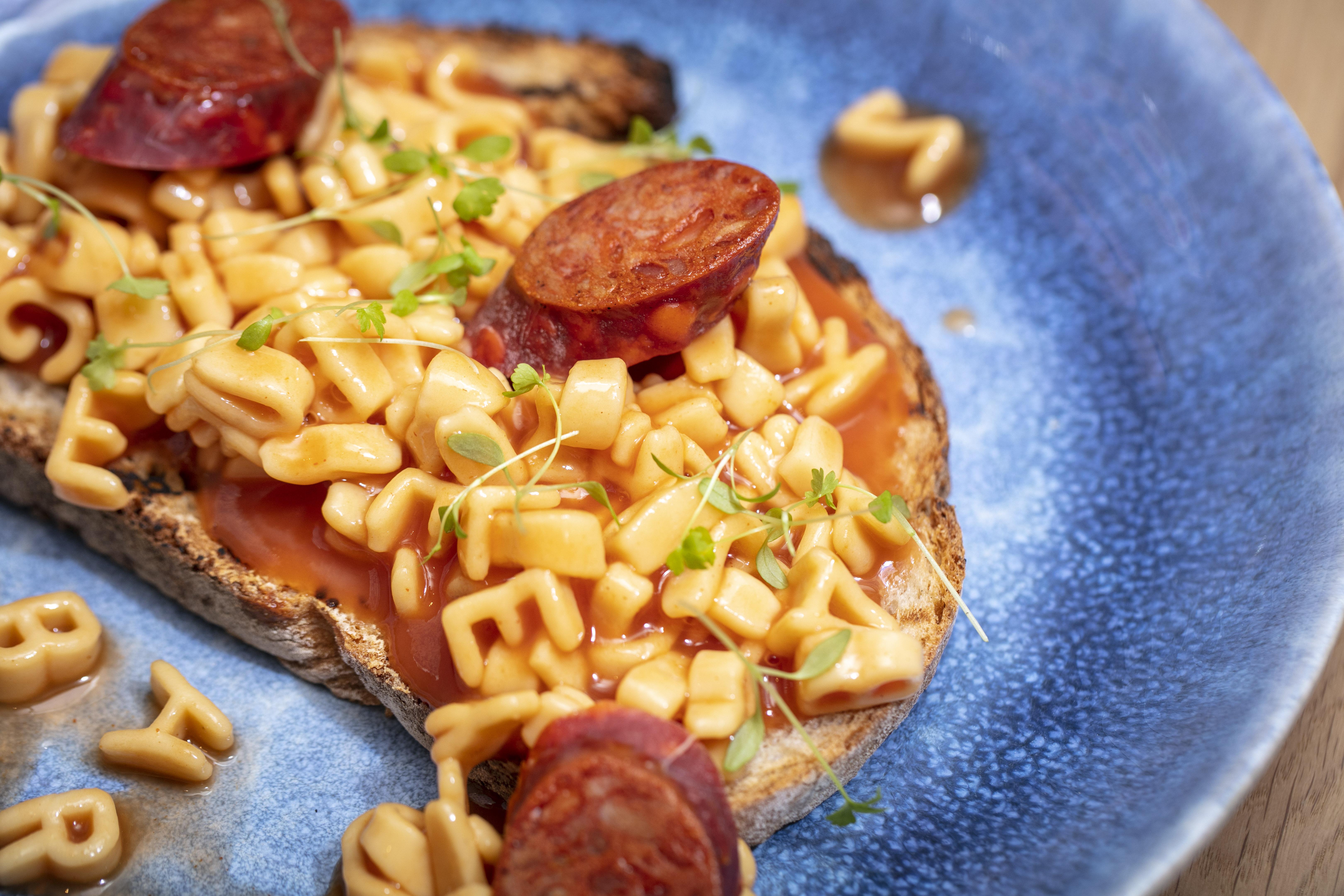 Bluebird Chelsea's White City restaurant puts alphabet spaghetti on its new brunch menu