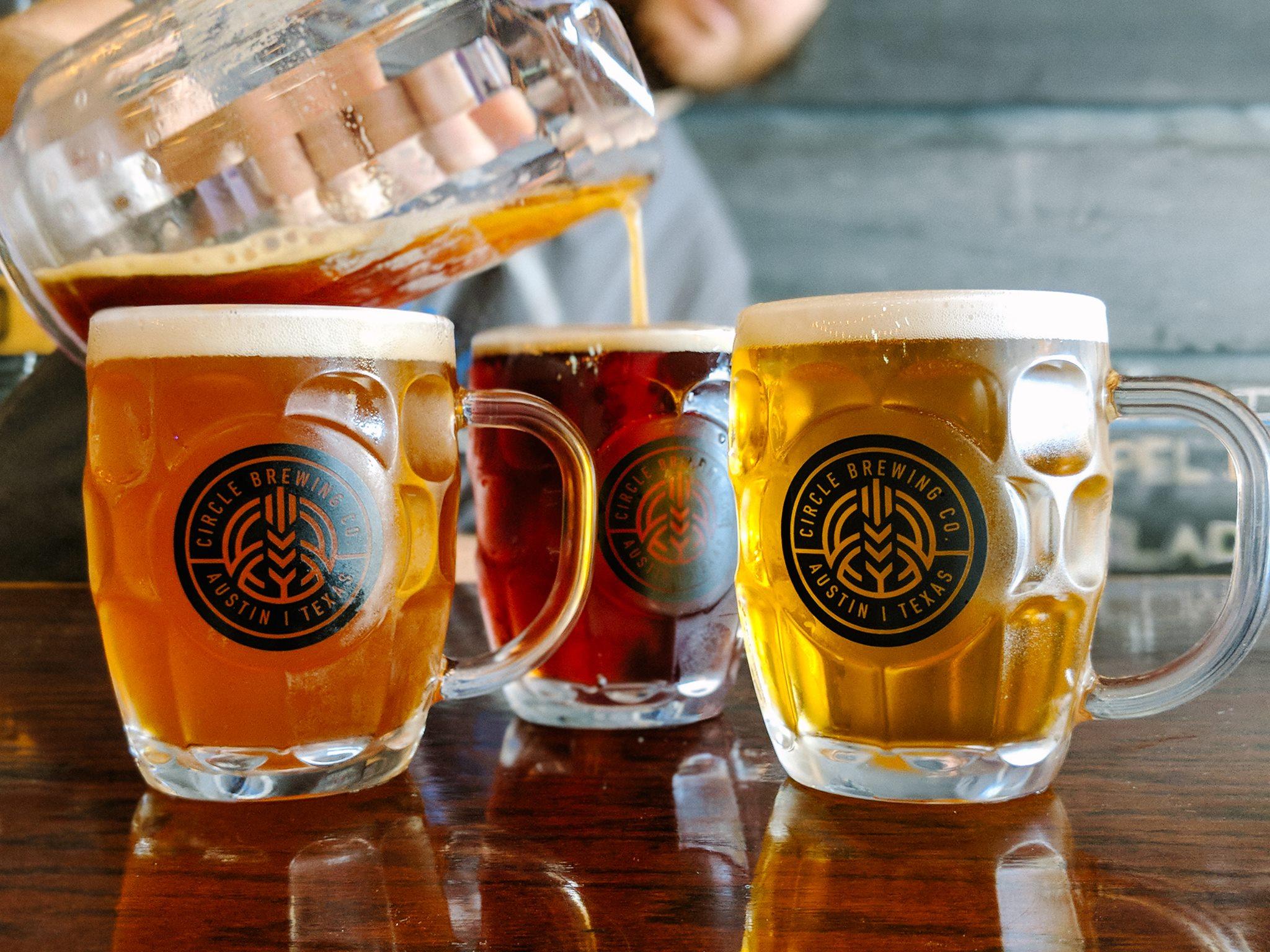 Beers at Circle Brewing Company