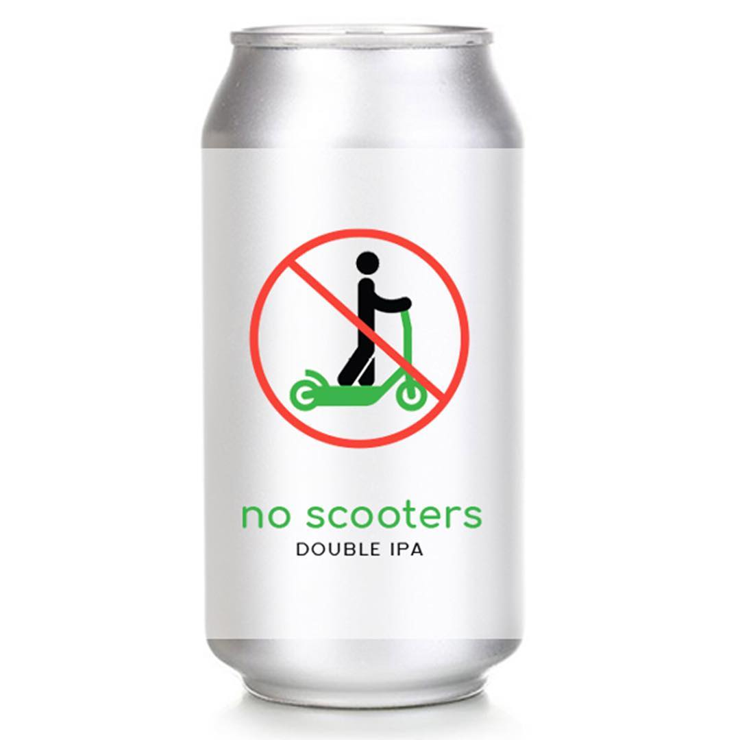Hi Sign Brewing's No Scooters beer