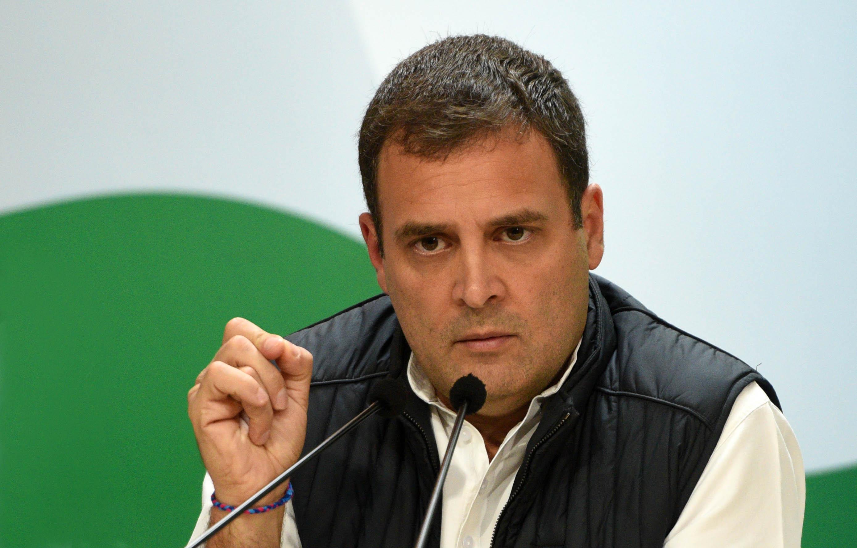 Rahul Gandhi speaking in December 2018
