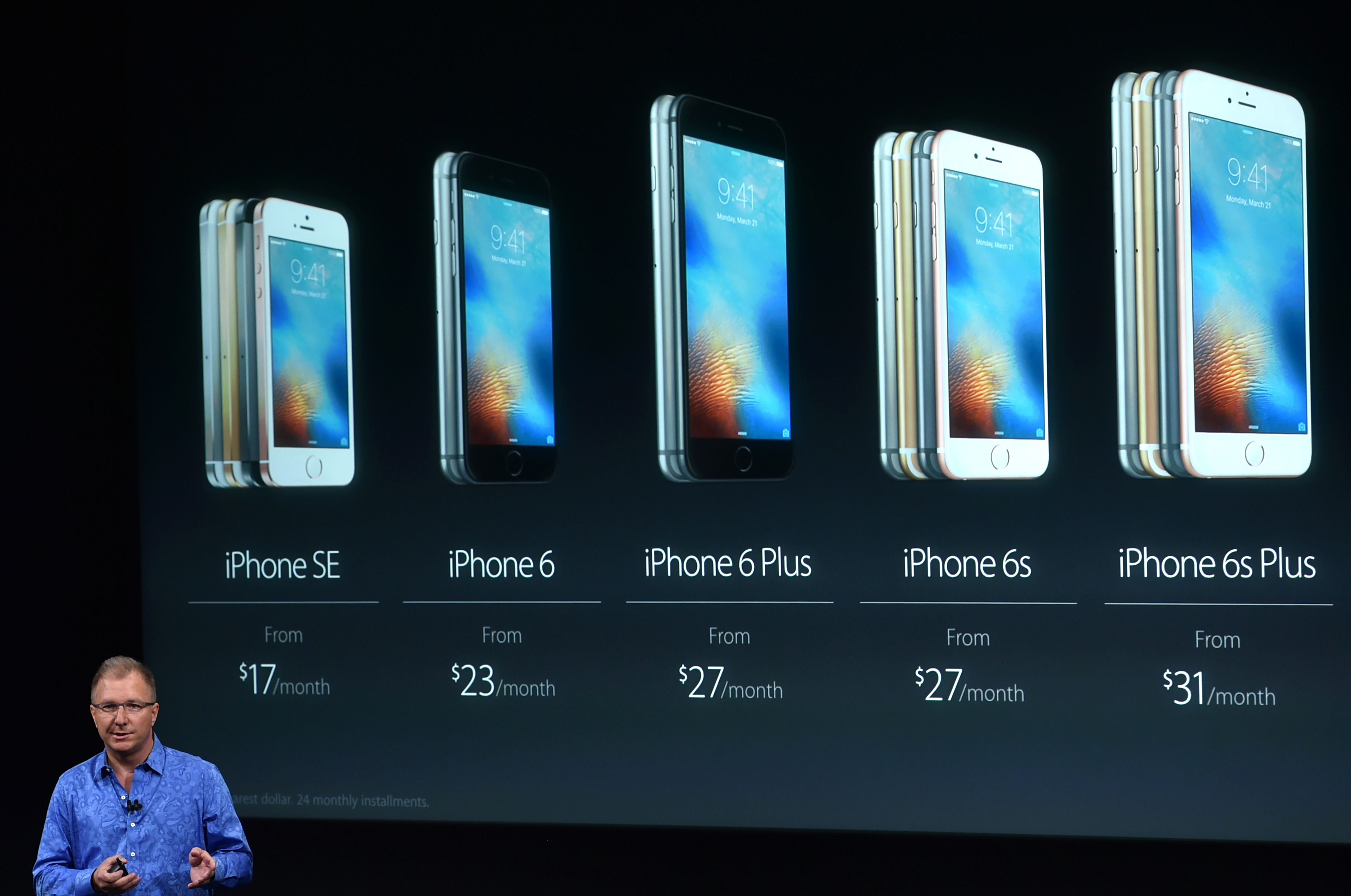 Apple iPhone models over the years.