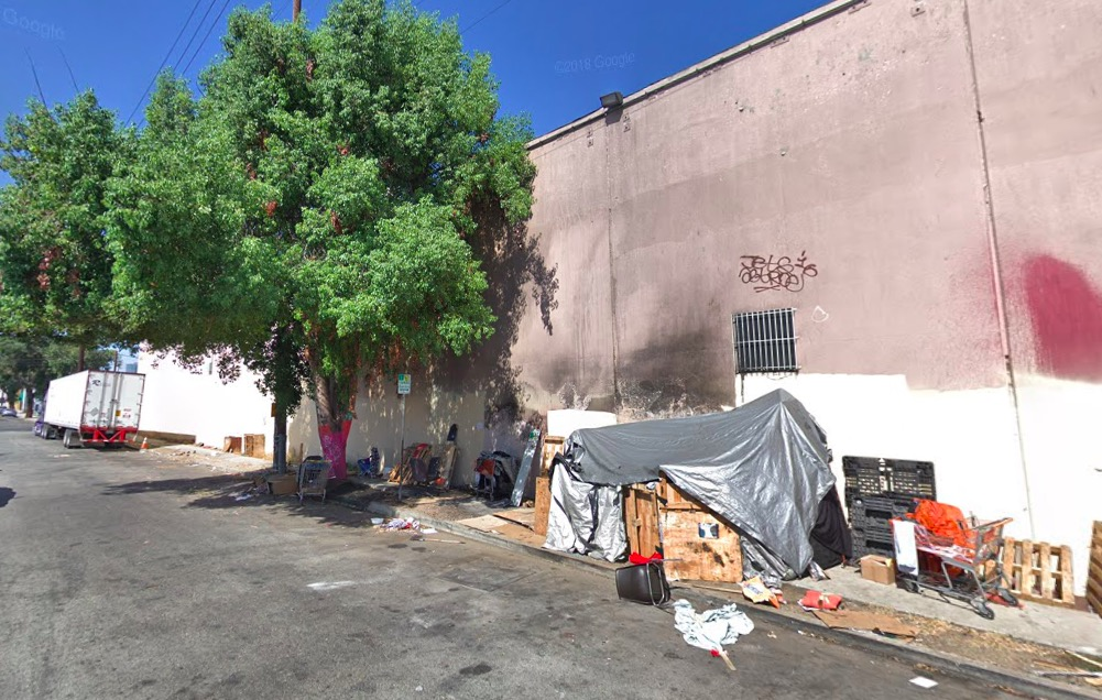 Fashion District shelter site