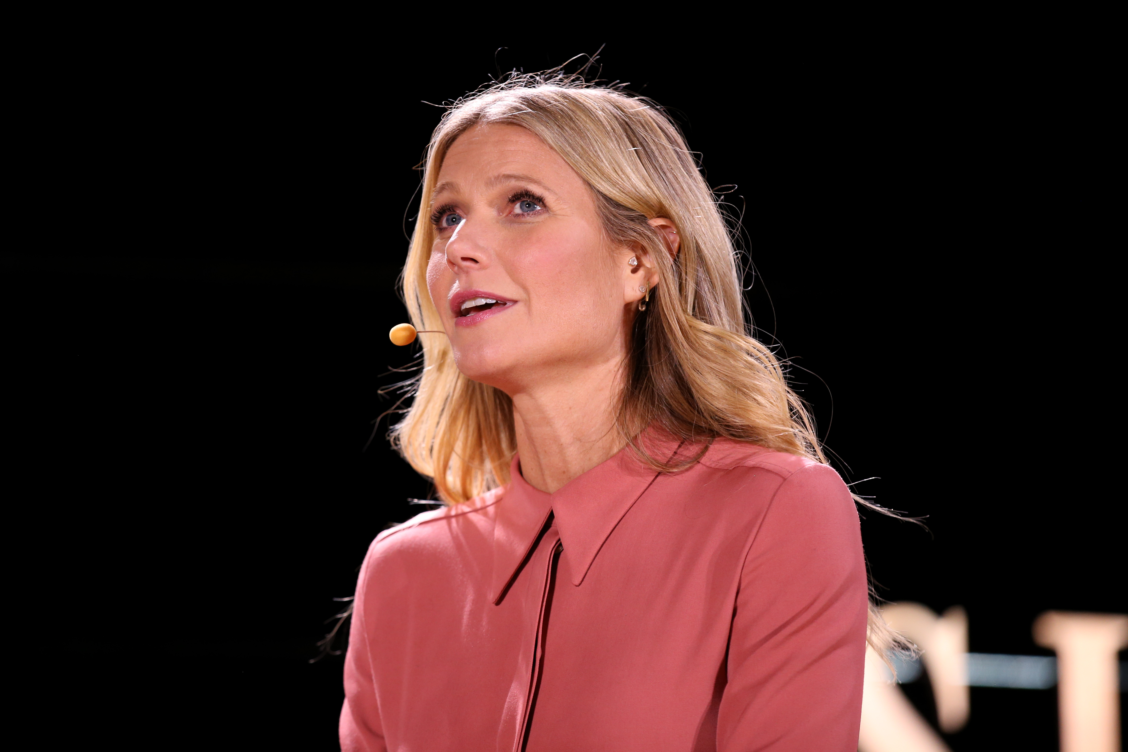 Gwyneth Paltrow onstage at a tech conference.