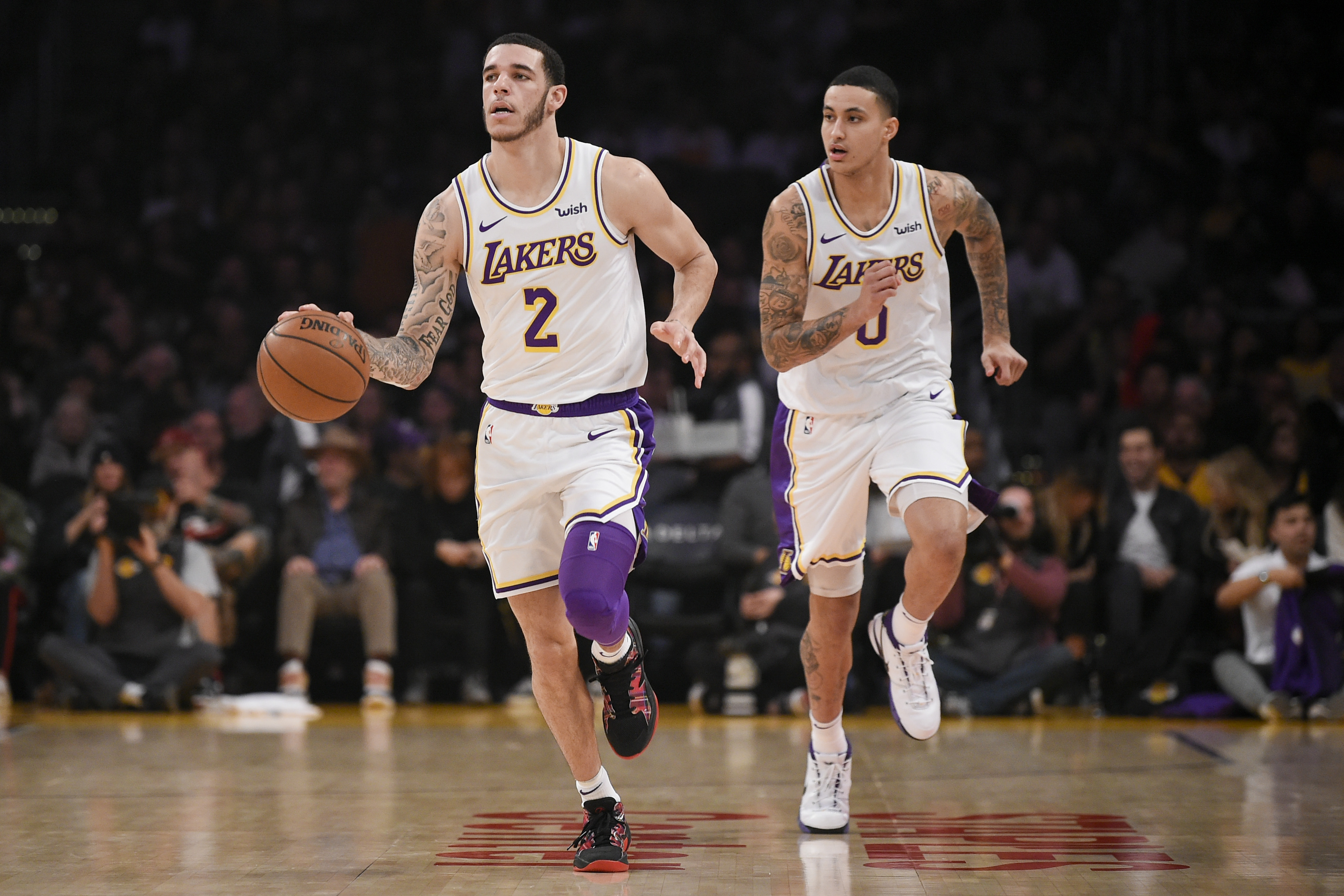 0ca5559190cd Lakers offering Pelicans two of Kyle Kuzma