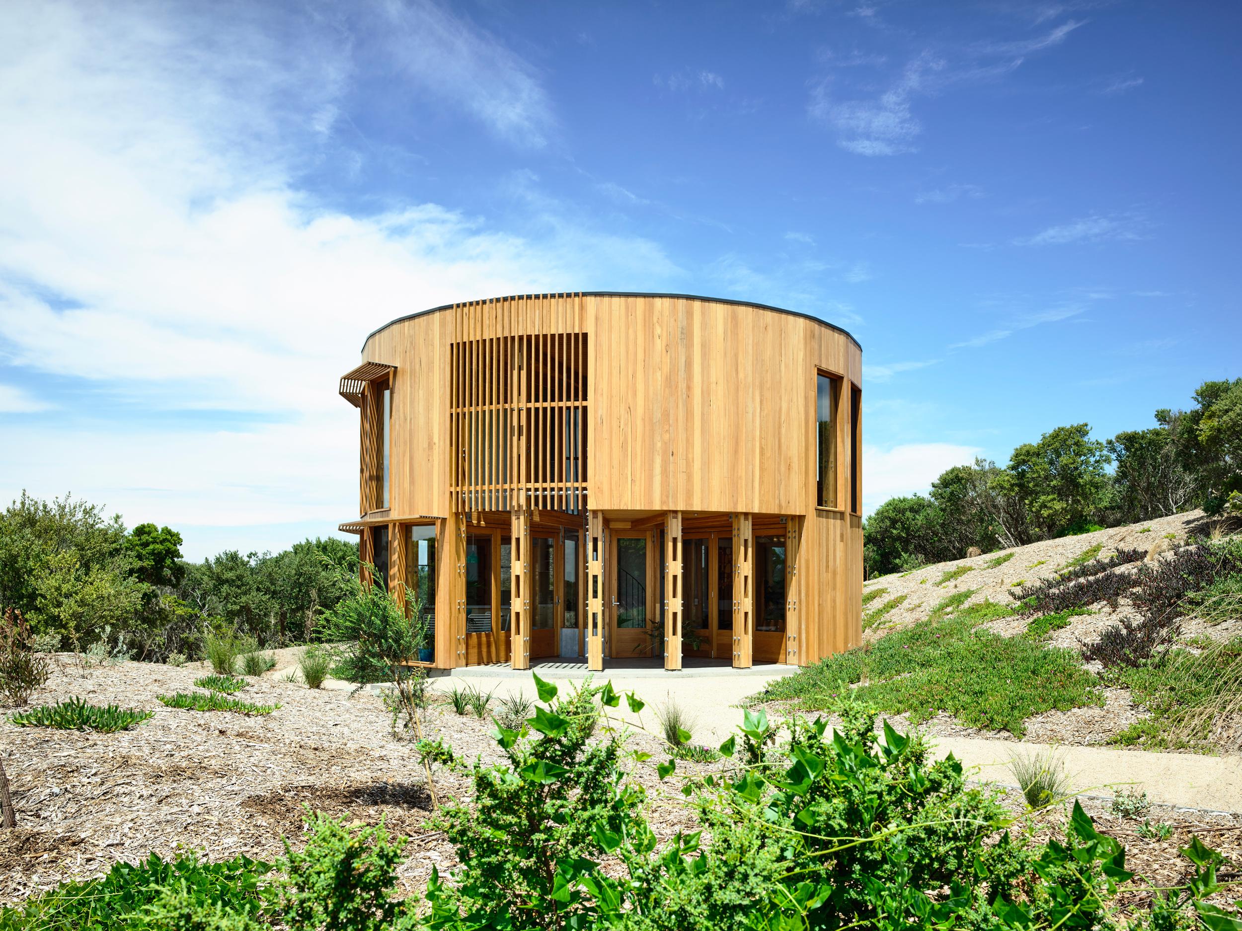 Round beach house