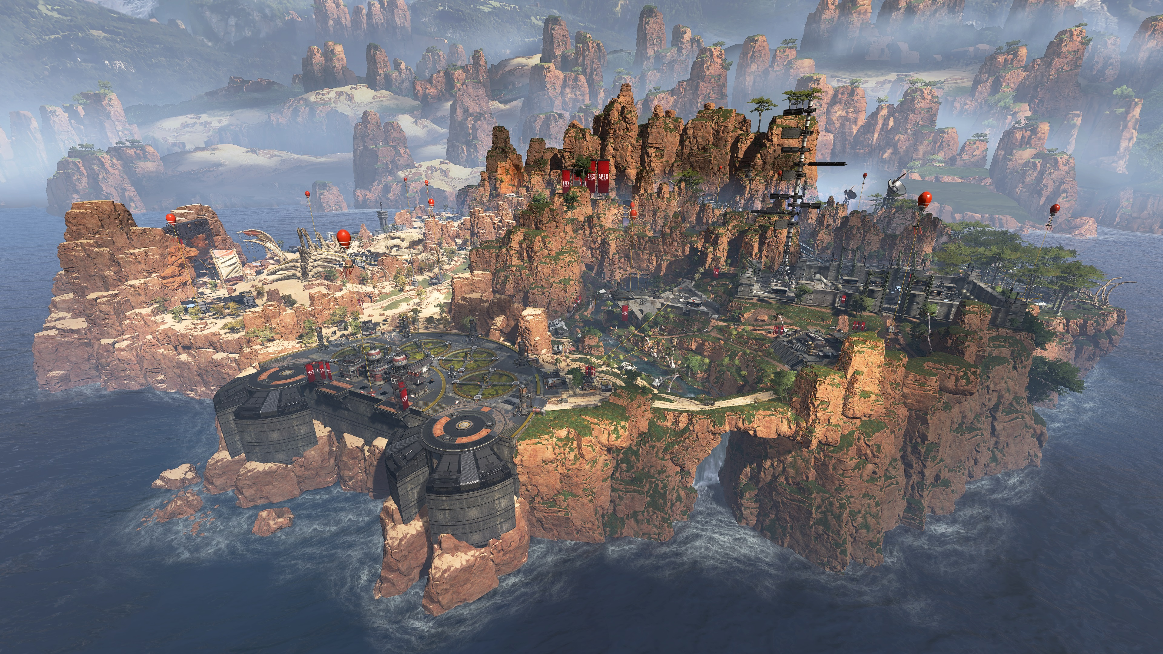 Apex Legends - wide shot of Kings Canyon in The Outlands