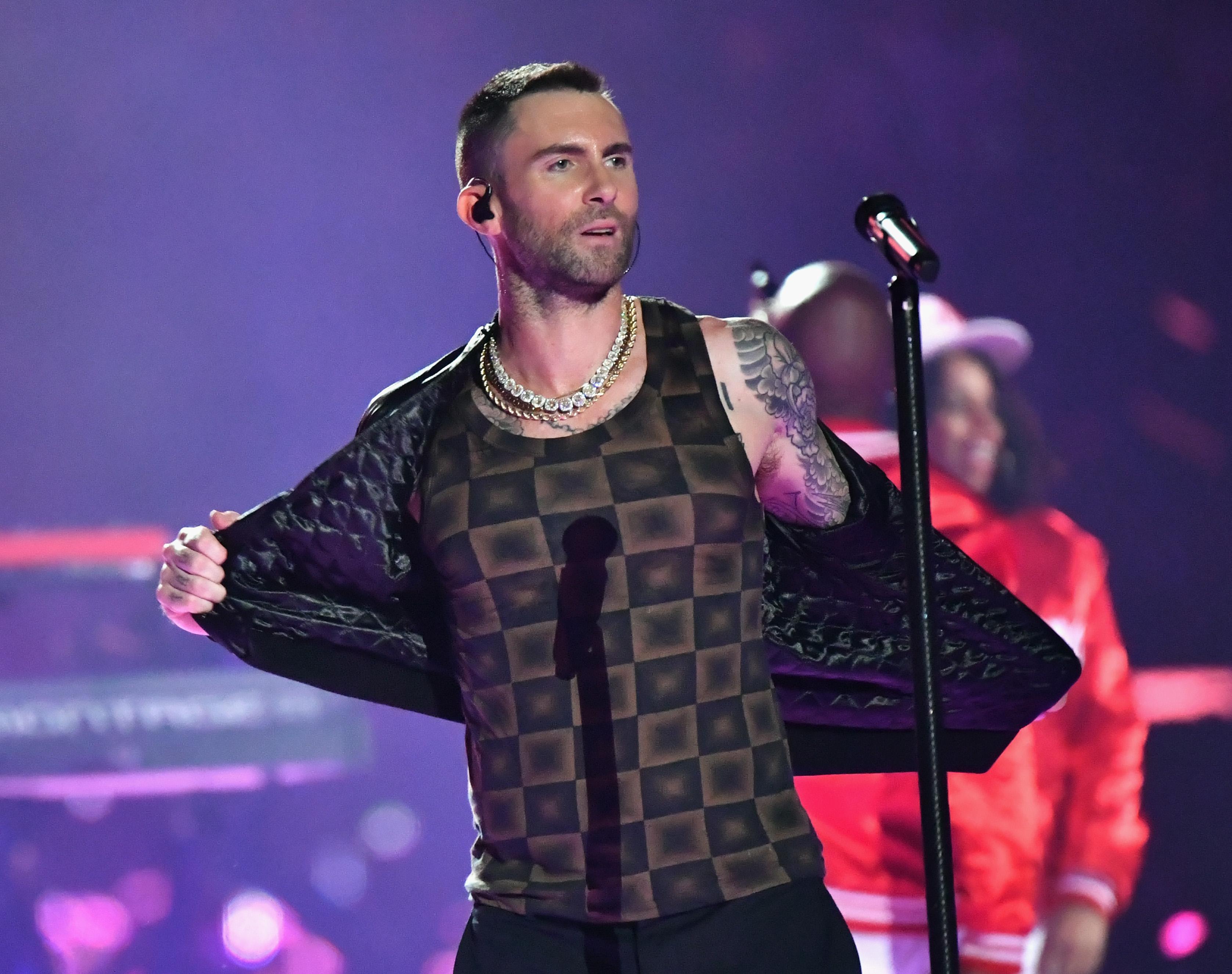 77afaae9 Super Bowl 2019 halftime show: Why Adam Levine's shirt looks like ...