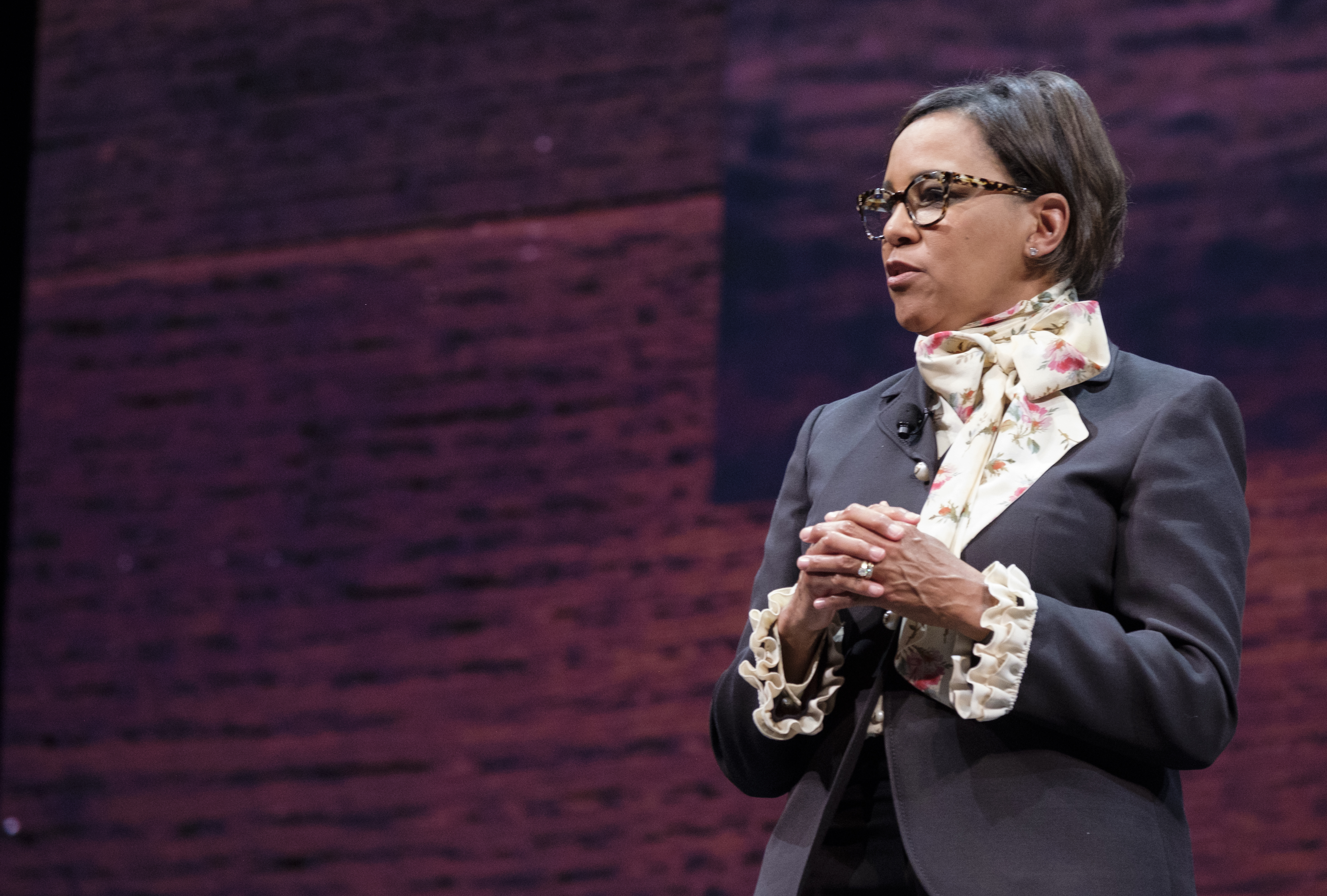 Starbucks Chief Operating Officer Roz Brewer speaking onstage.