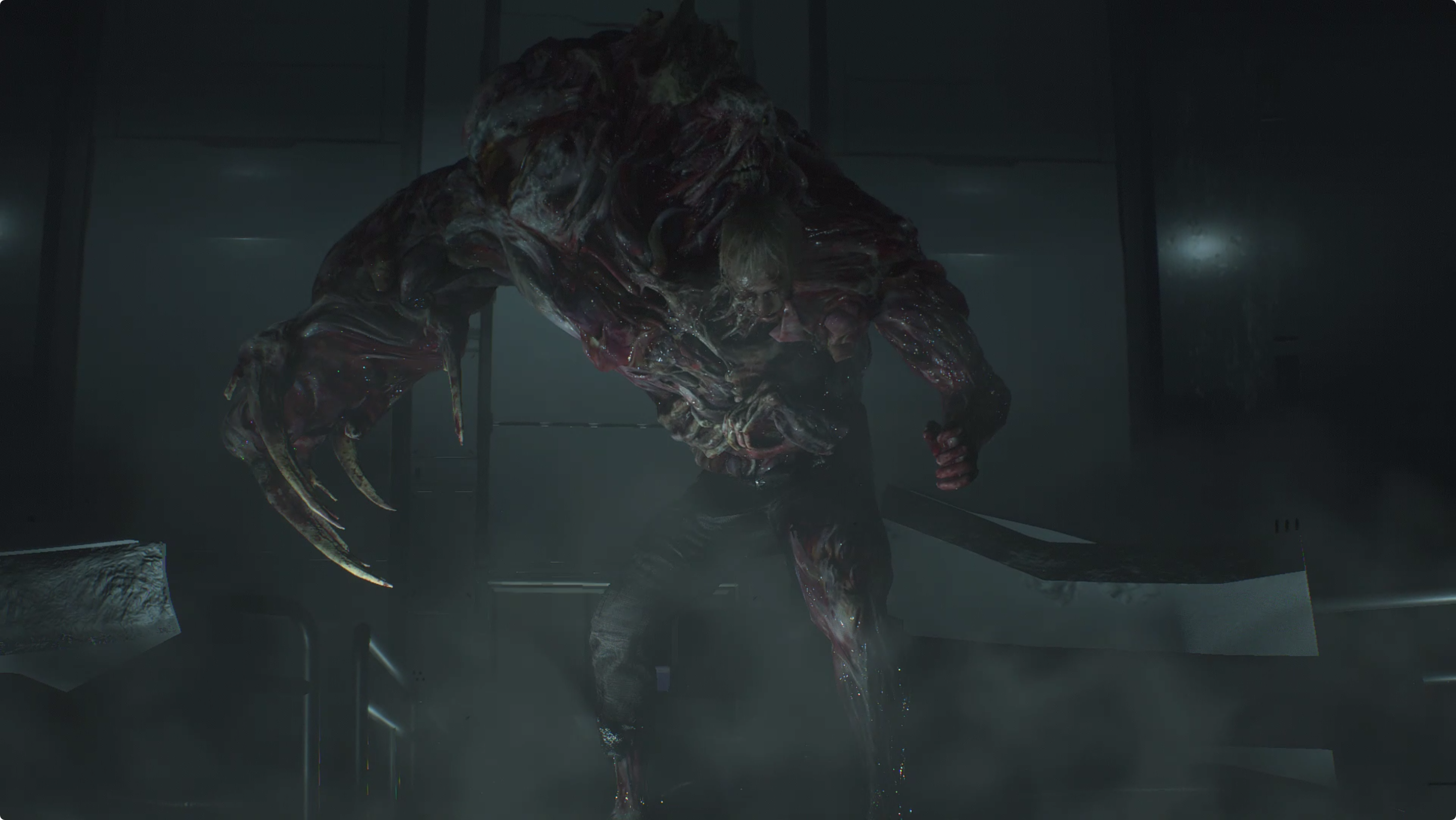 Resident Evil 2 West Area, G (Phase 3) boss fight, and escape the