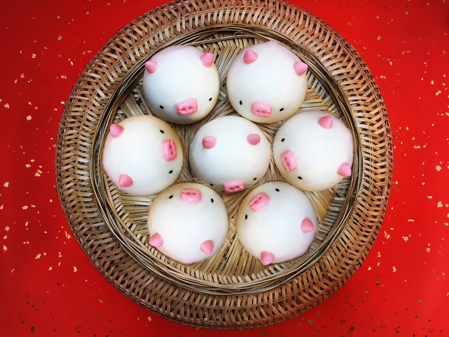 Year of the Pig is this Chinese New Year, and London's restaurants celebrated with cutesy pig bao buns