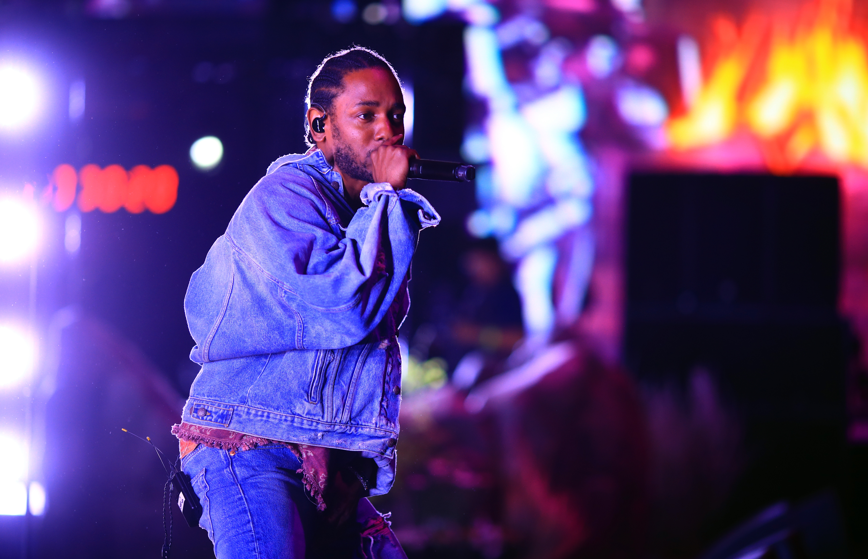 Kendrick Lamar performs at the Coachella music festival in 2018.