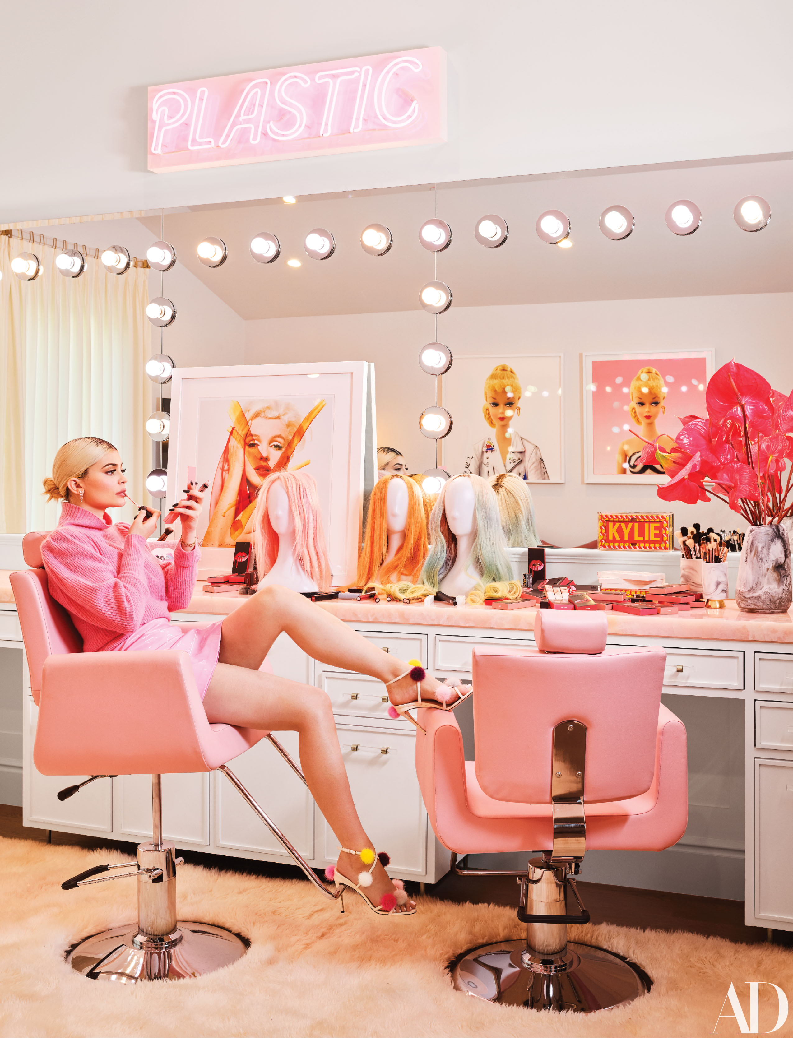 See inside Kylie Jenner's playful, bright Hidden Hills house