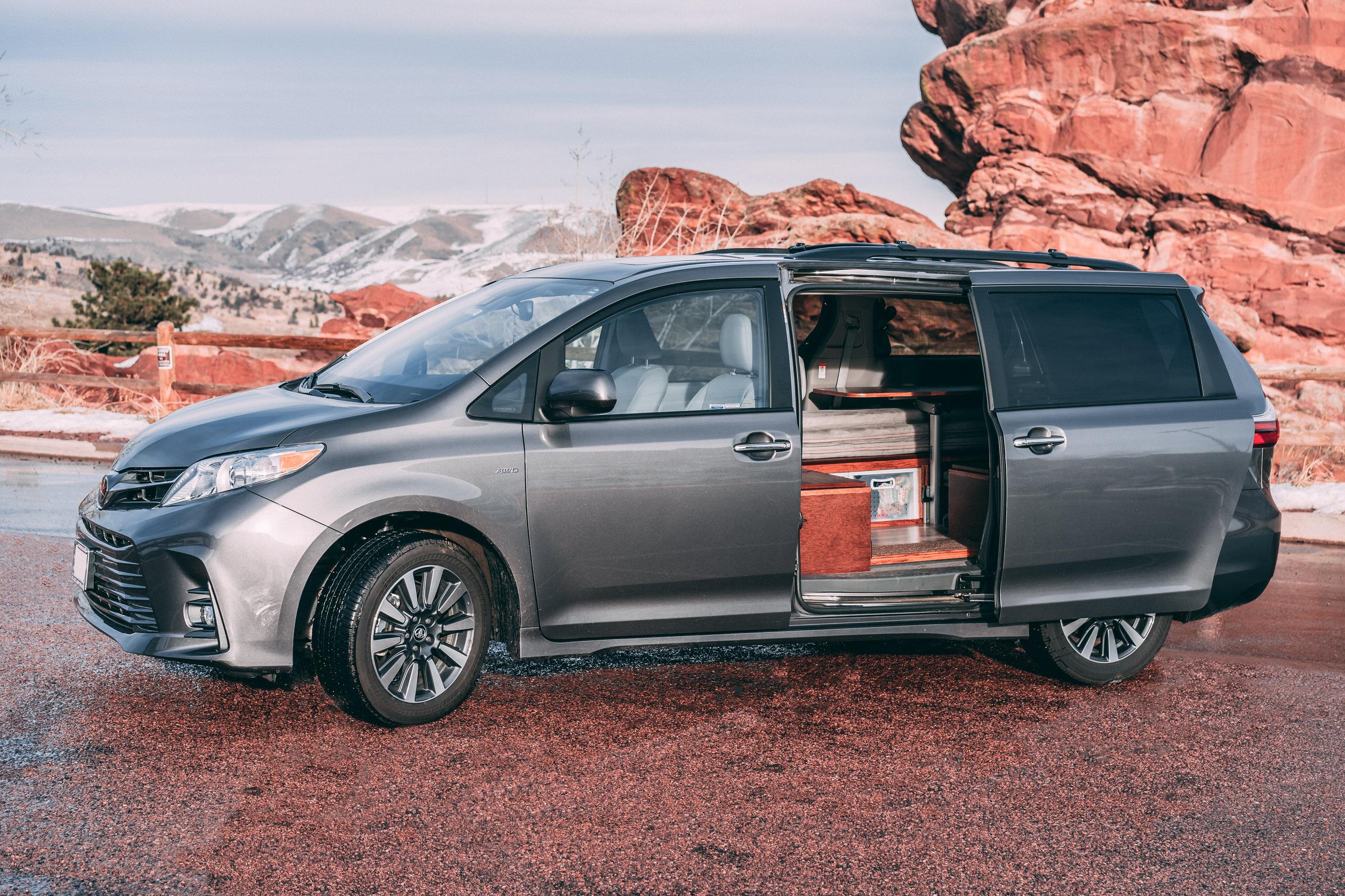 Minivan transforms into two-person camper for $8.5K