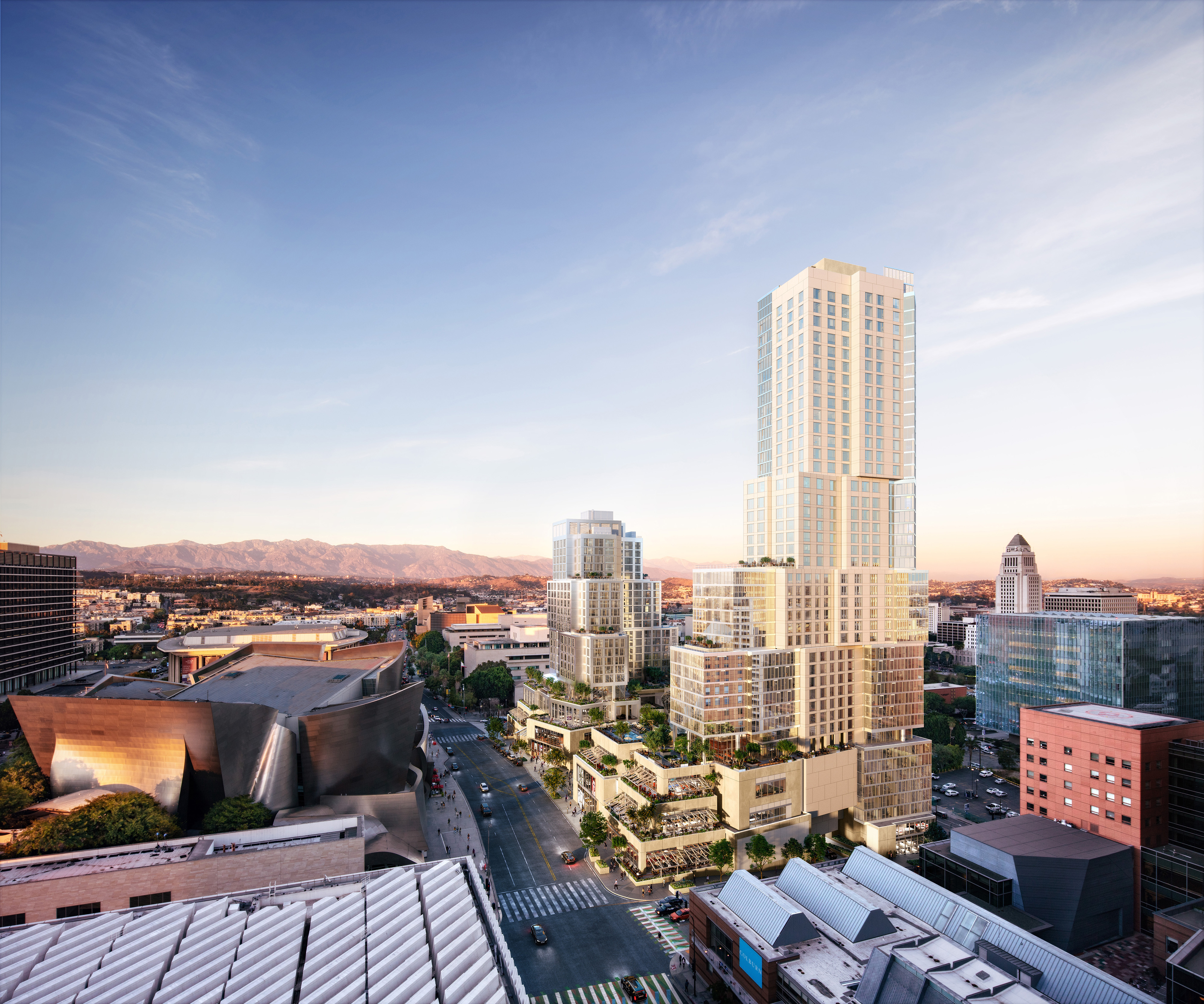 Construction kicks off on Frank Gehry's next big project—a mixed-use complex on Bunker Hill