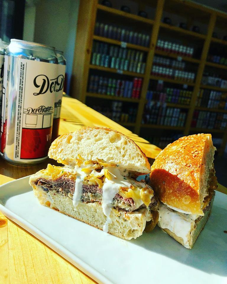 American Provisions hot beef sandwich