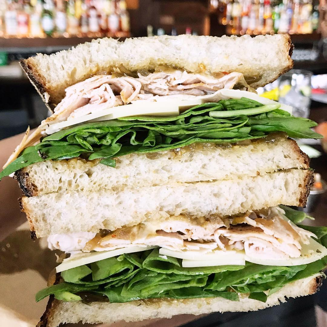 The smoked turkey sandwich from Front Page
