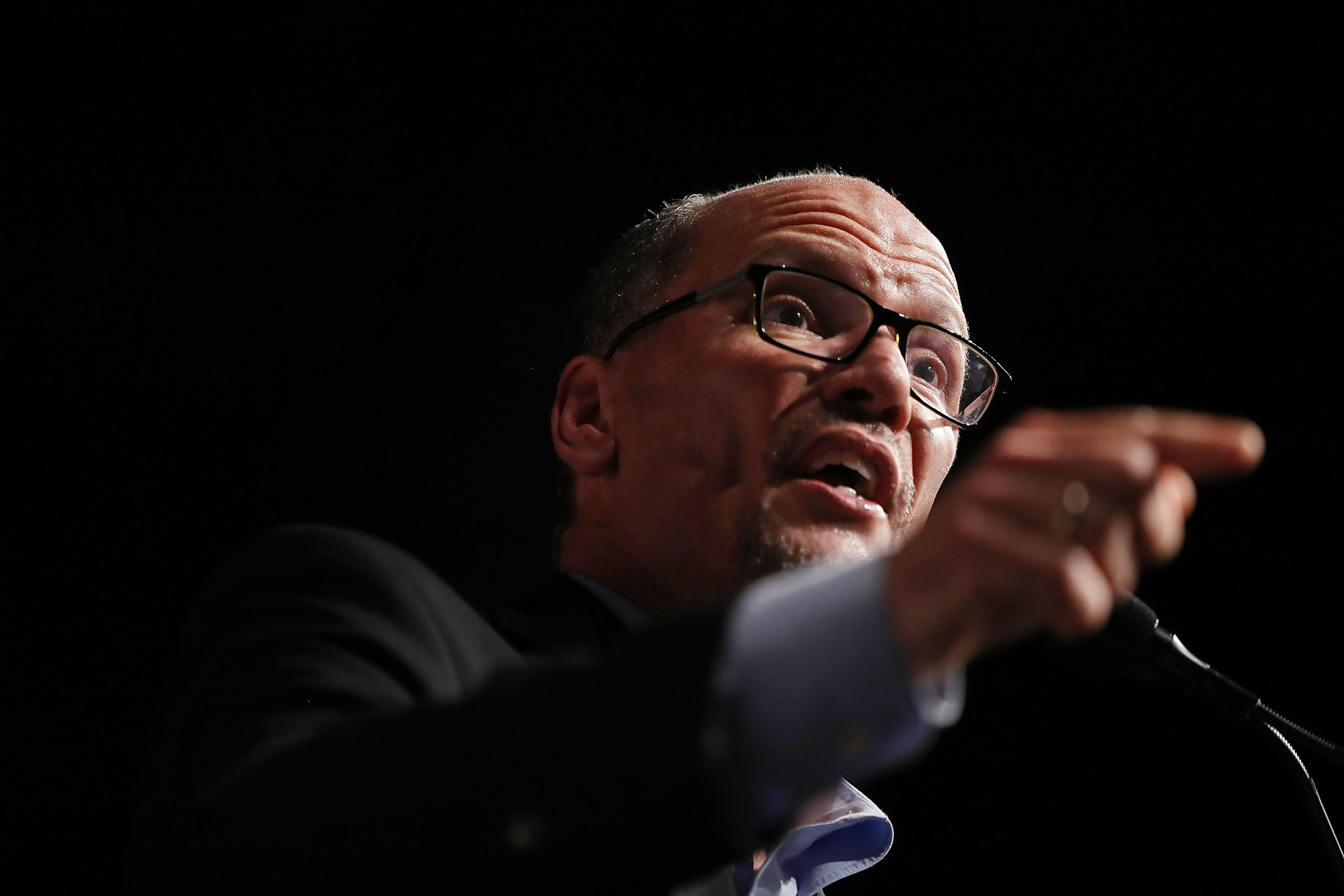 The Democratic National Committee has voted down a ban on corporate PAC donations