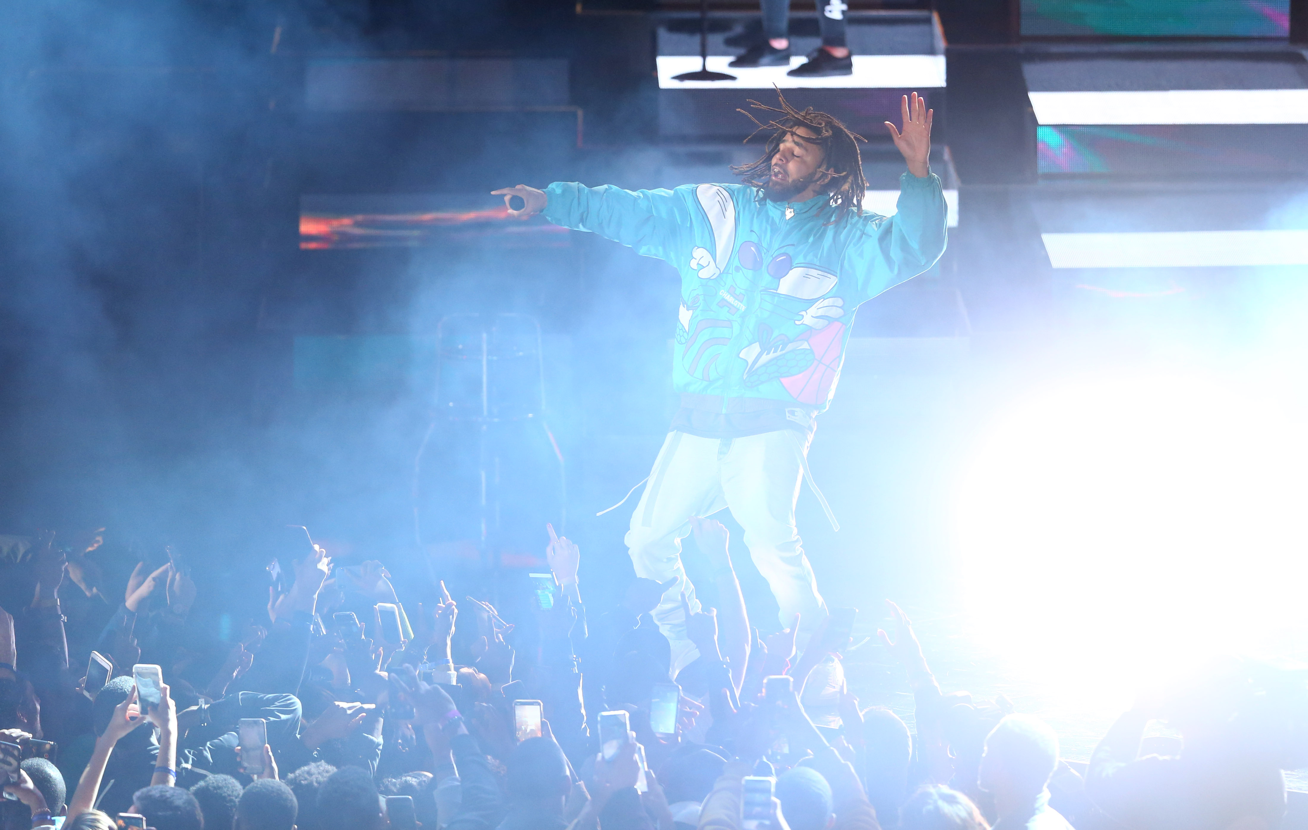 J. Cole does NBA All-Star Game halftime show with no features