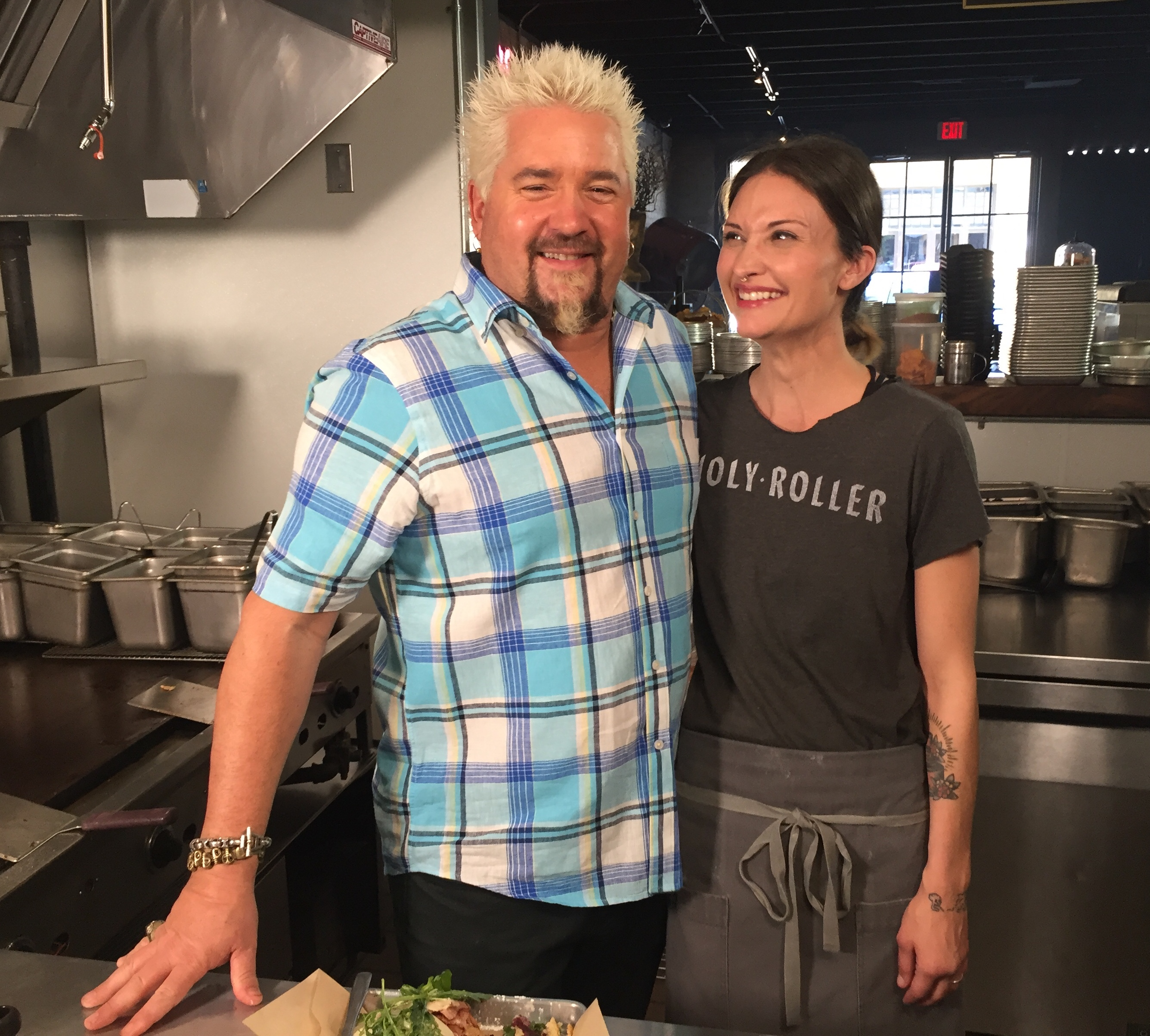 Guy Fieri and chef Callie Speer