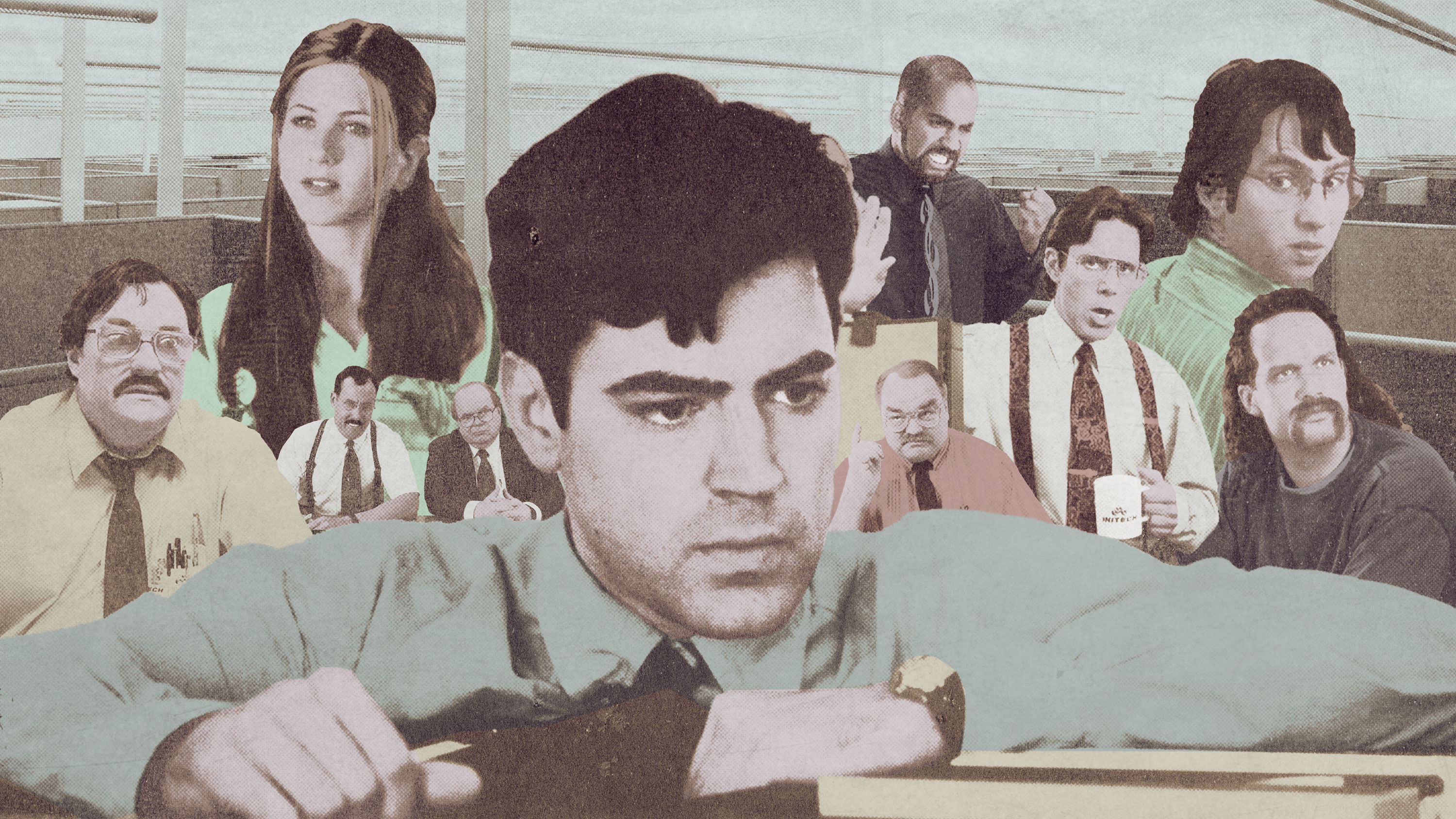 A collage of actors from 'Office Space'