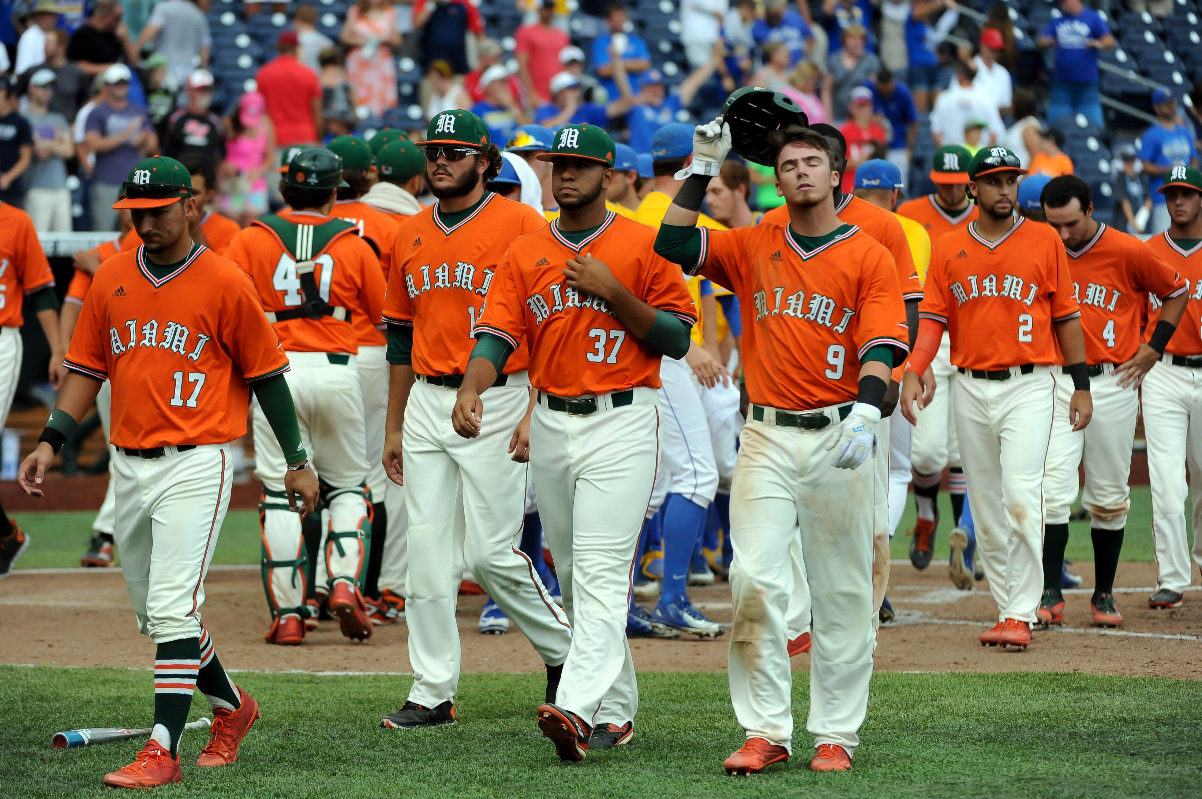 NCAA Baseball: College World Series-Miami vs UC Santa Barbara