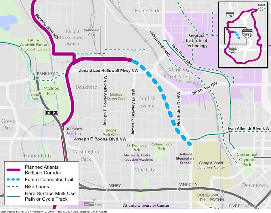 An updated map of trail plans released by Beltline officials today.