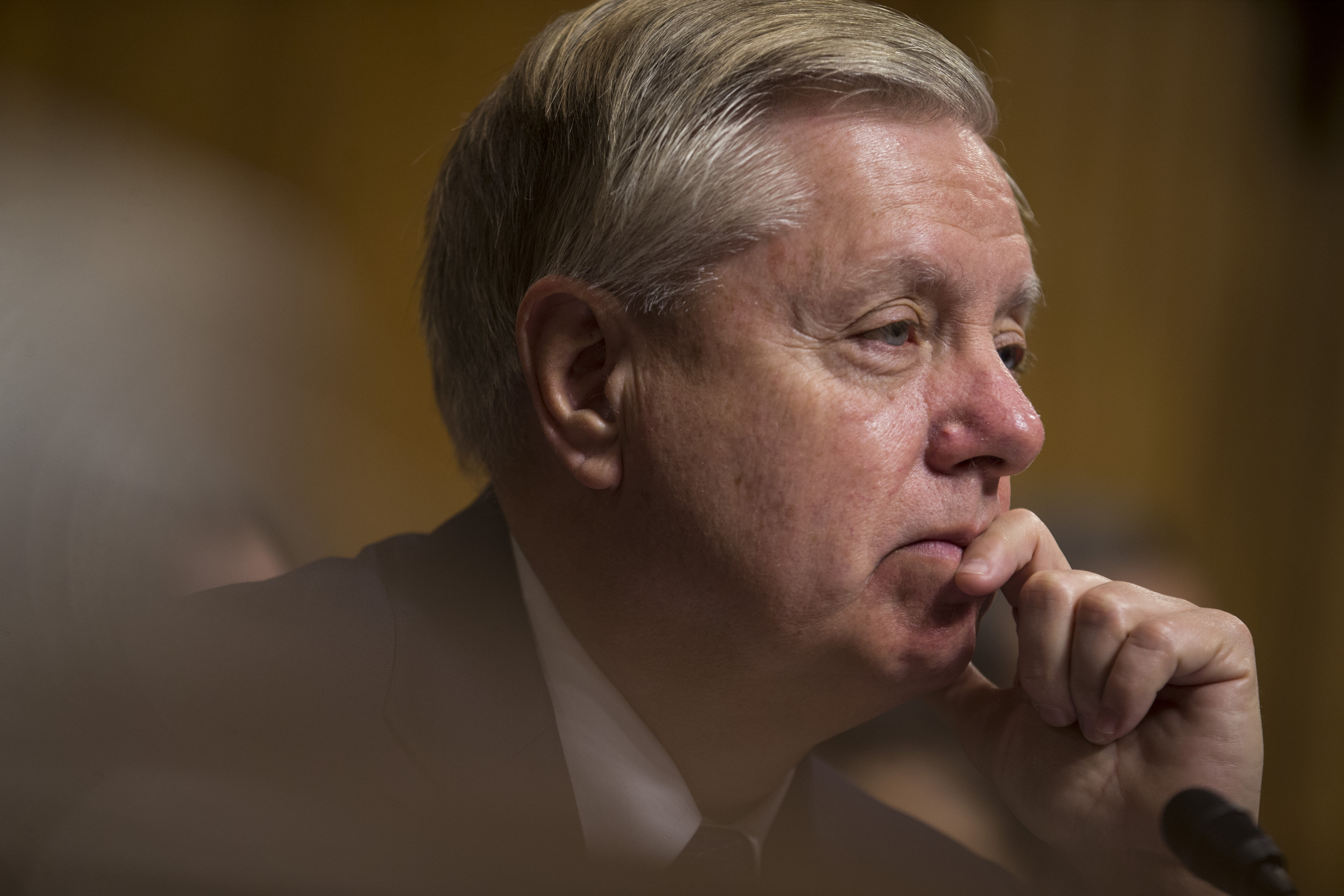 """Sen. Lindsey Graham, presiding over a February 5, 2019 Judiciary hearing, told Trump's defense chief that leaving Syria was """"the dumbest f***cking idea I've ever heard."""""""