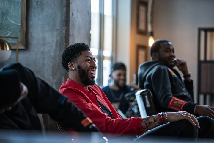 Anthony Davis and LeBron James filmed an episode of 'The Shop' during All-Star Weekend