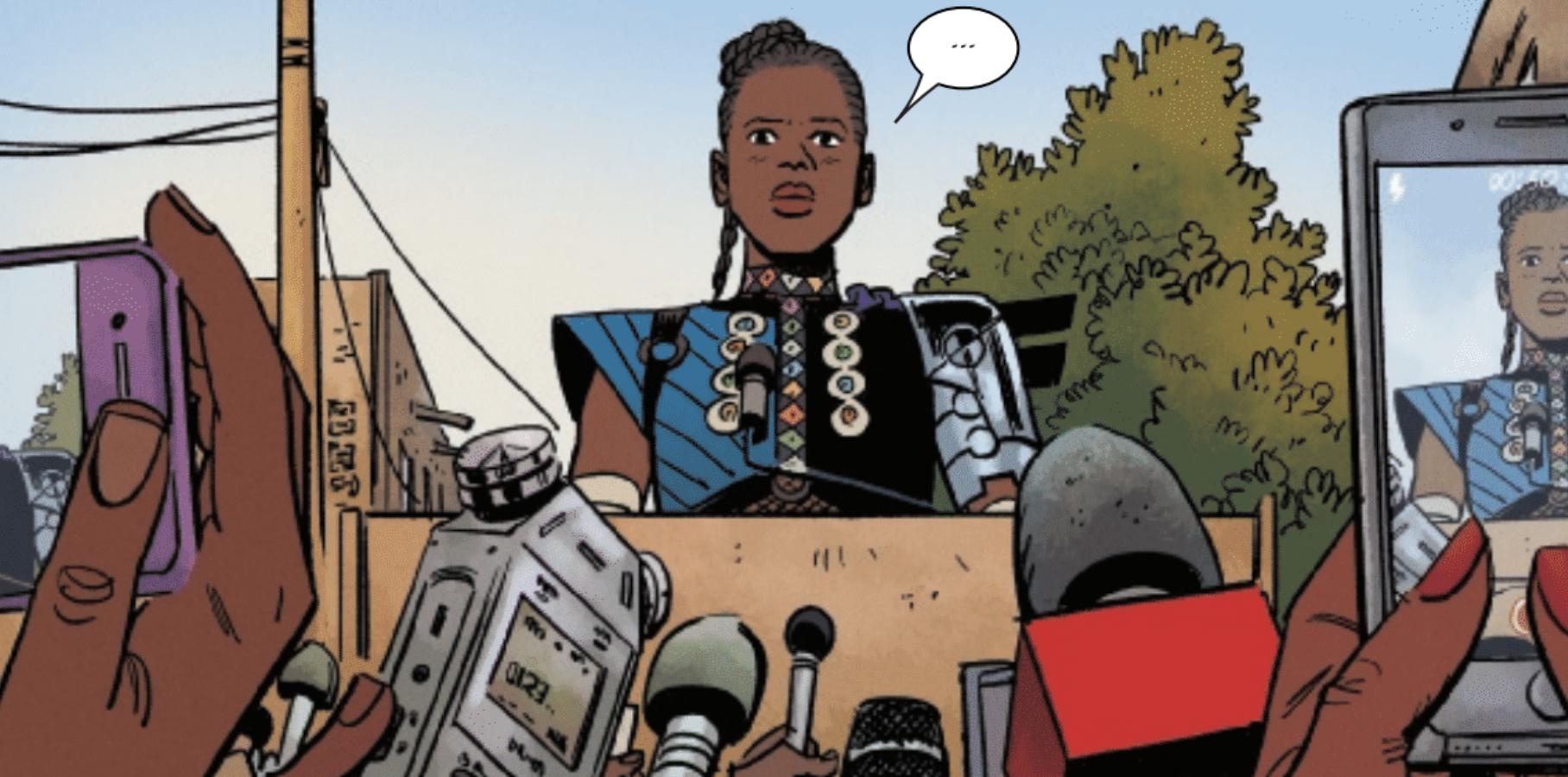 Princess Shuri debuts her Black Panther costume