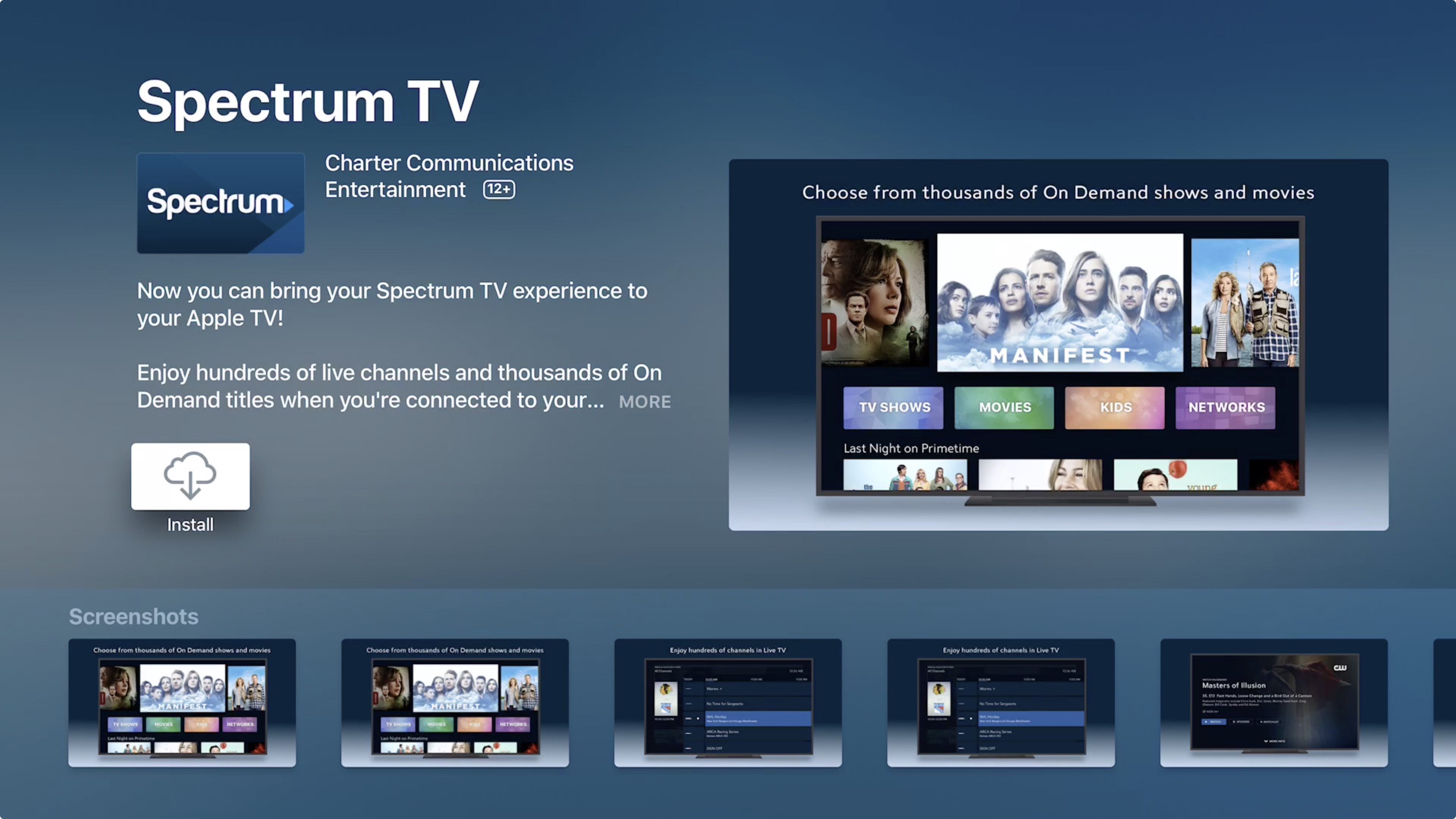 Spectrum has a streaming service that's basically its cable package