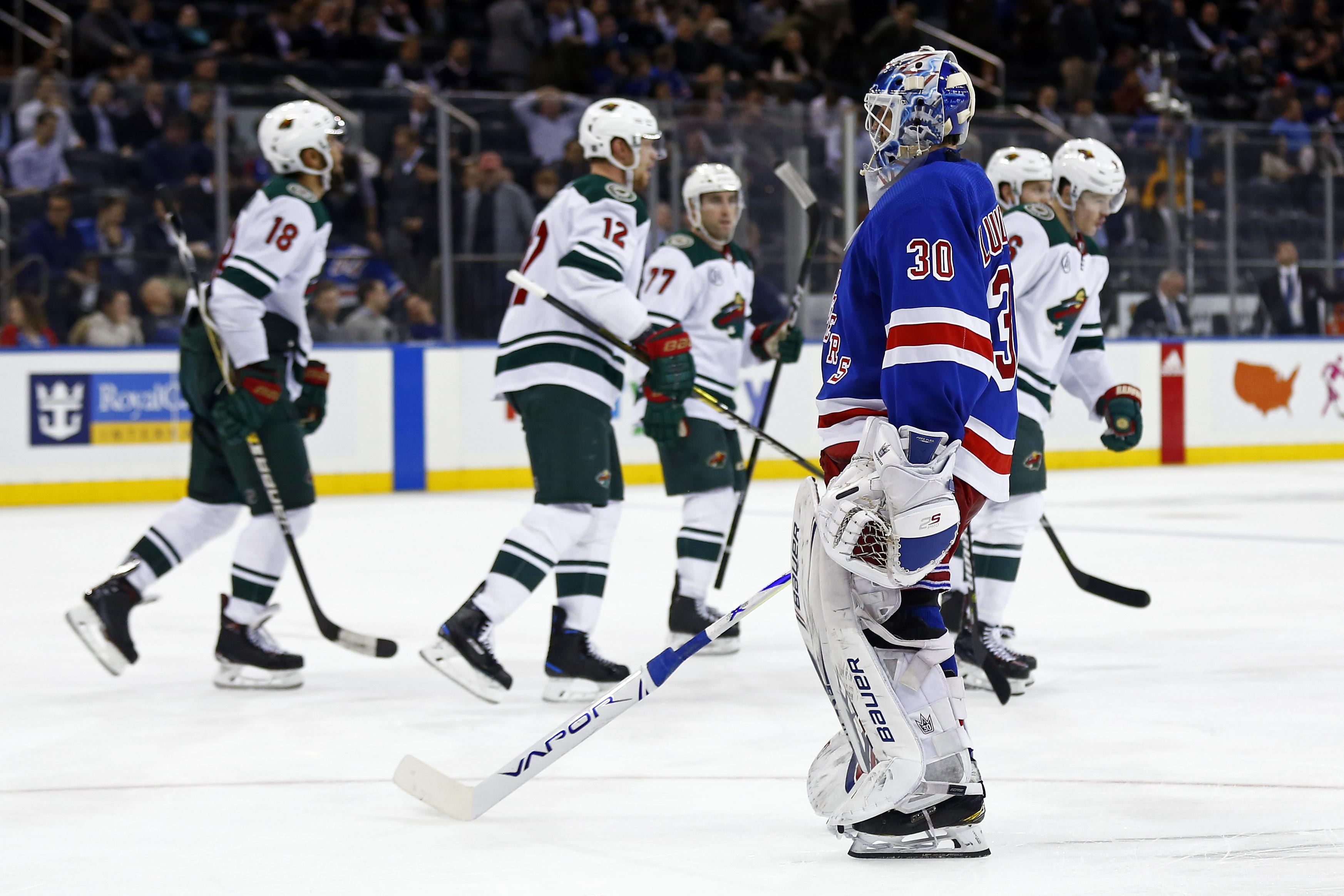 Rangers vs Wild  Rangers Give Up Three Unanswered to Minnesota 4cdb6e47c038