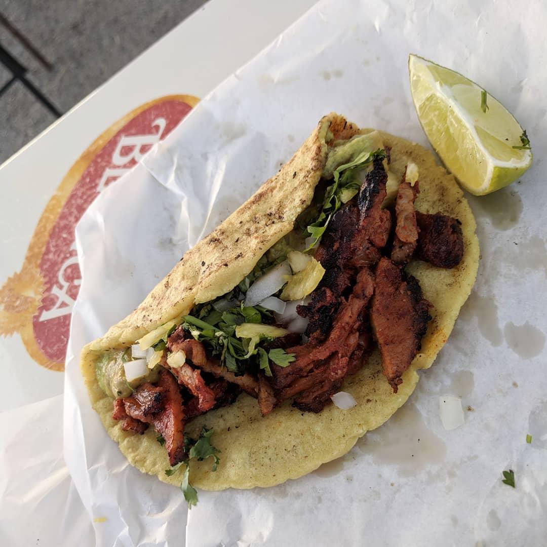 A taco from Vaquero Taquero