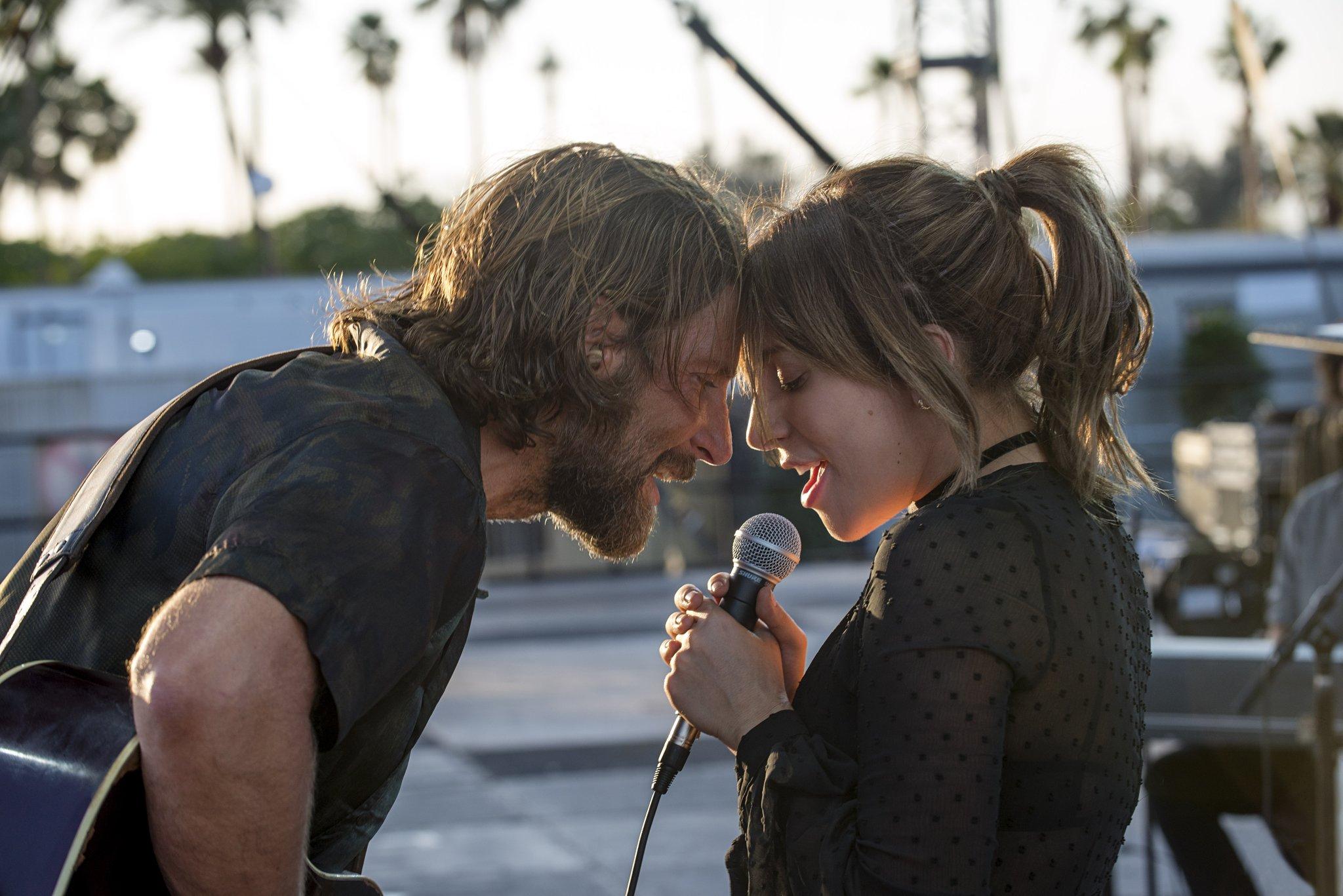 Bradley Cooper and Lady Gaga star in A Star Is Born.